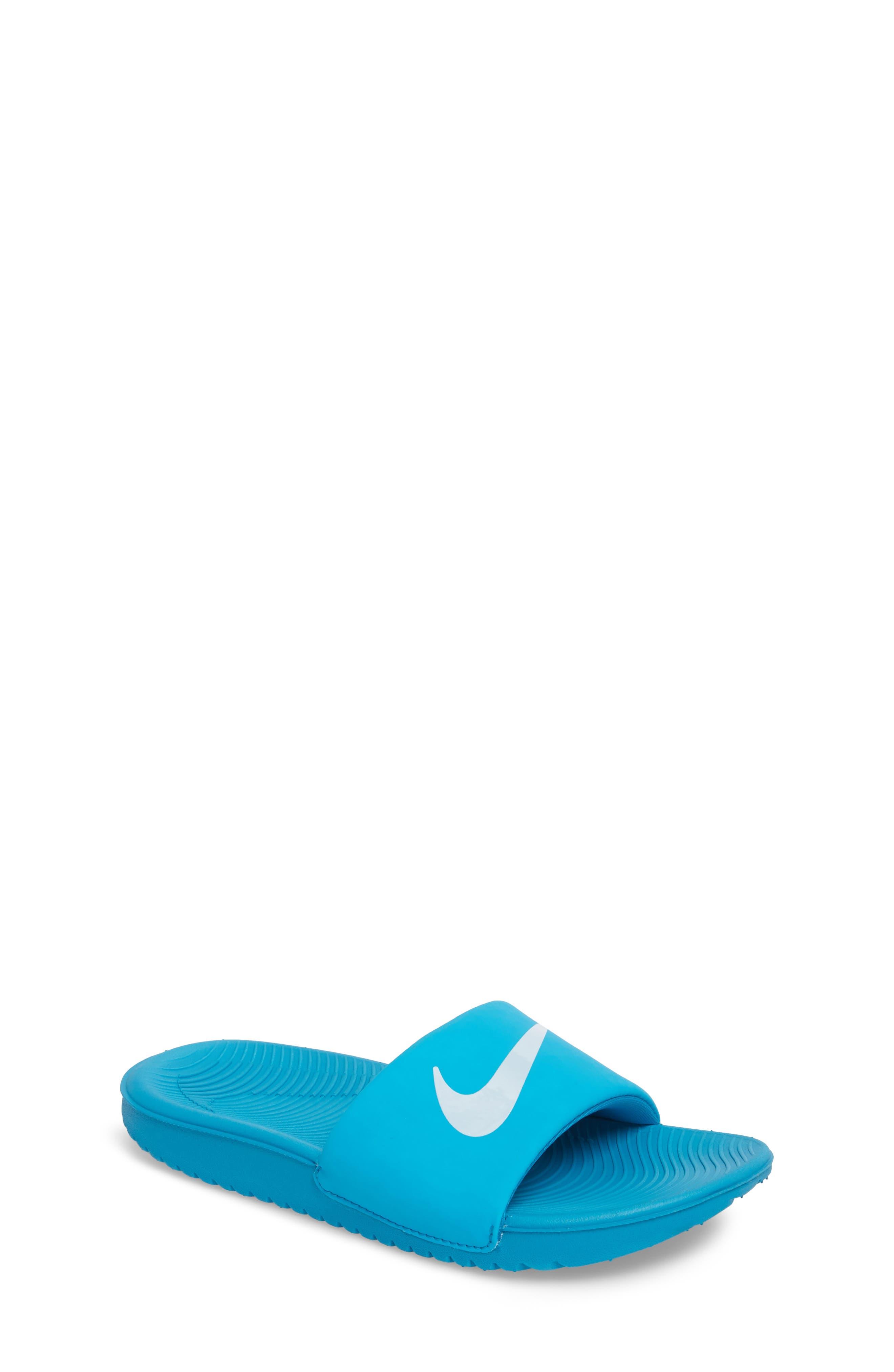 Alternate Image 1 Selected - Nike 'Kawa' Slide Sandal (Toddler, Little Kid & Big Kid)