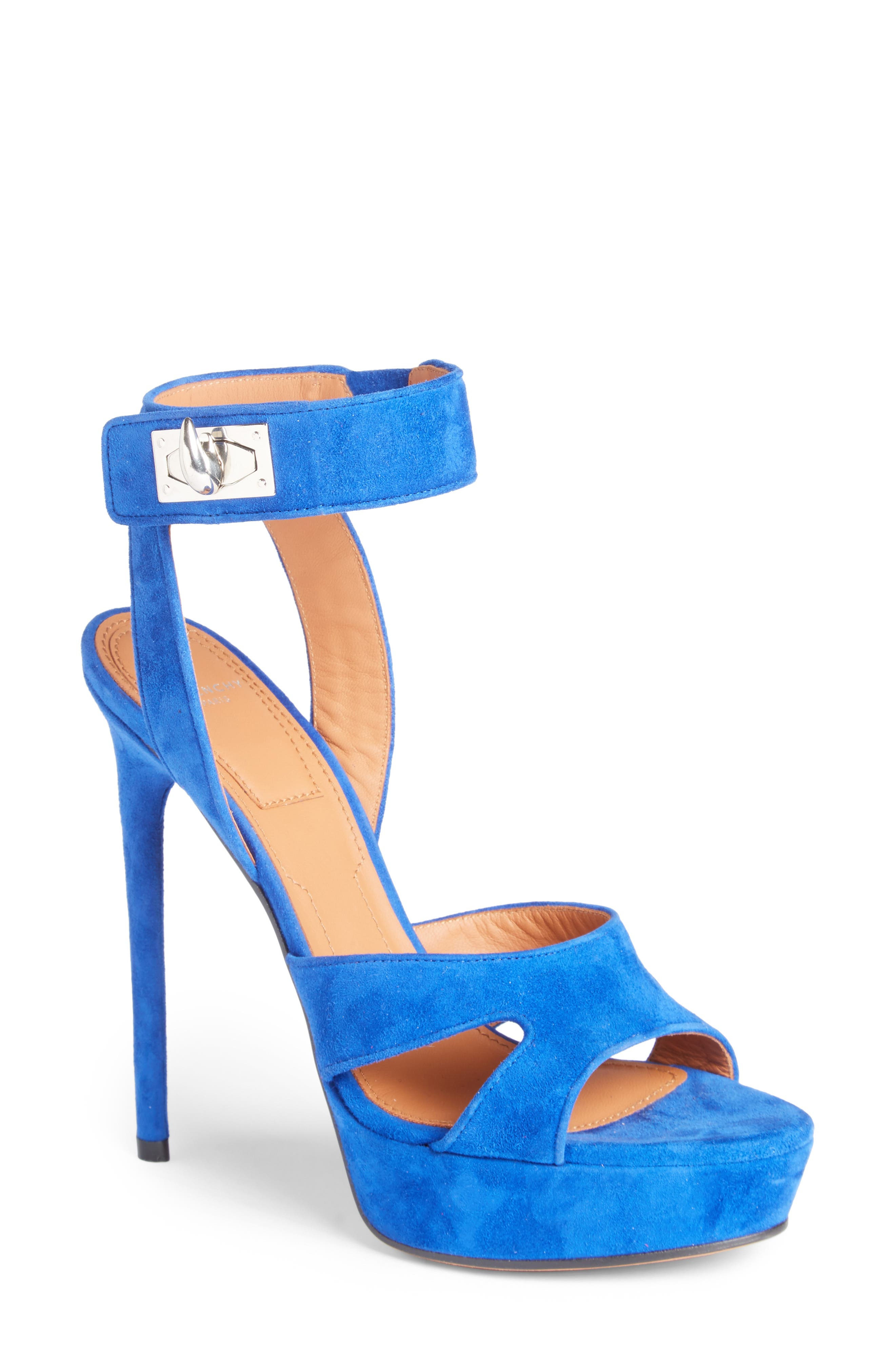 Shark's Tooth Sandal,                         Main,                         color, Electric Blue