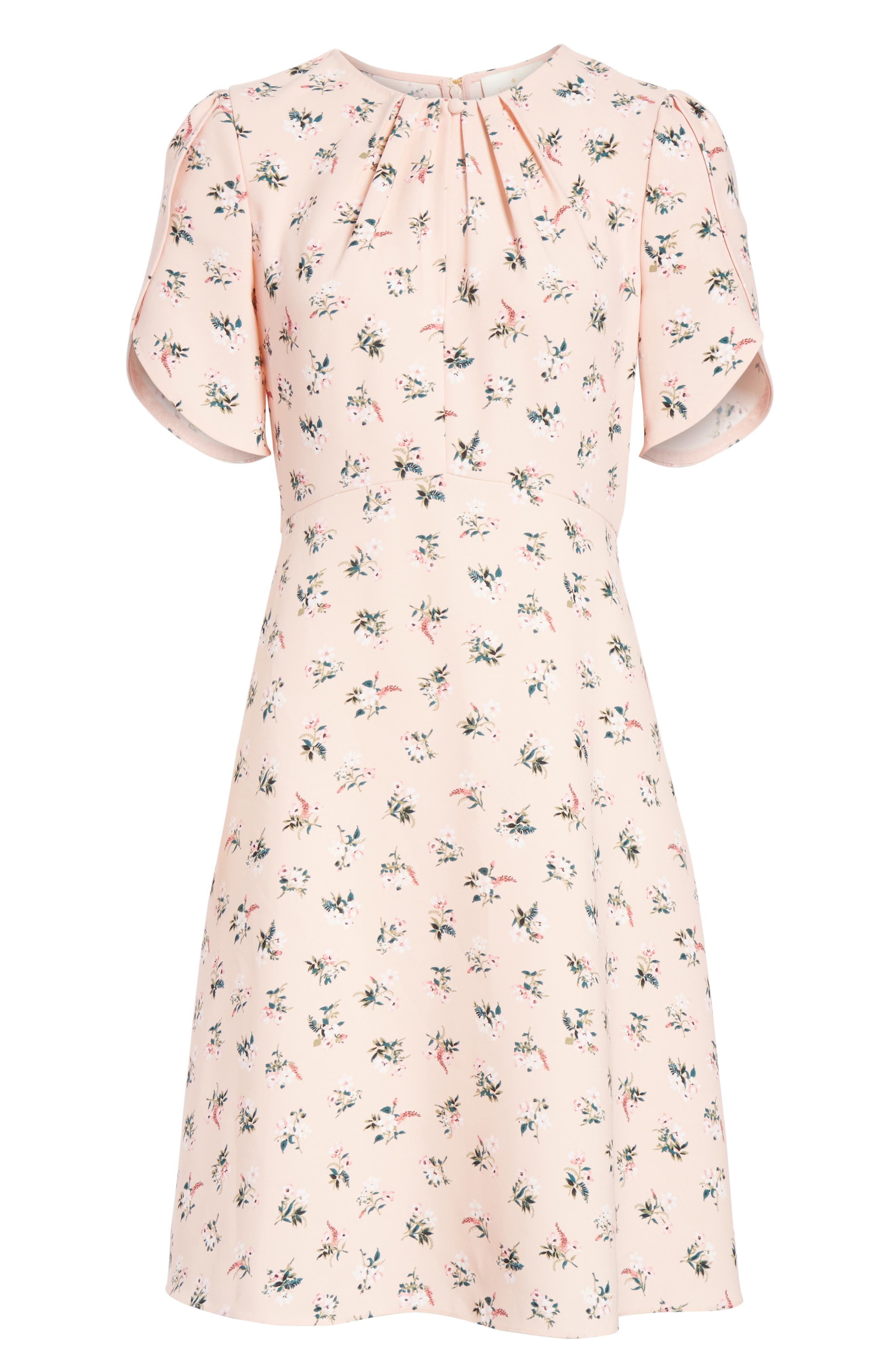 flora tulip sleeve dress,                             Alternate thumbnail 6, color,                             Cameo Pink