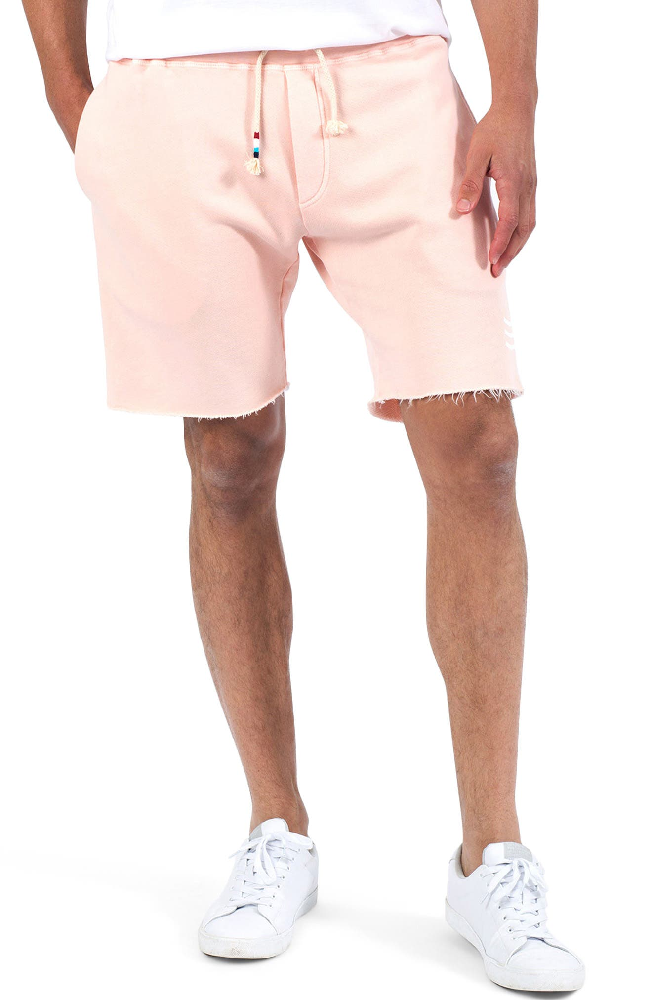 Essential Knit Shorts,                             Main thumbnail 1, color,                             Coral