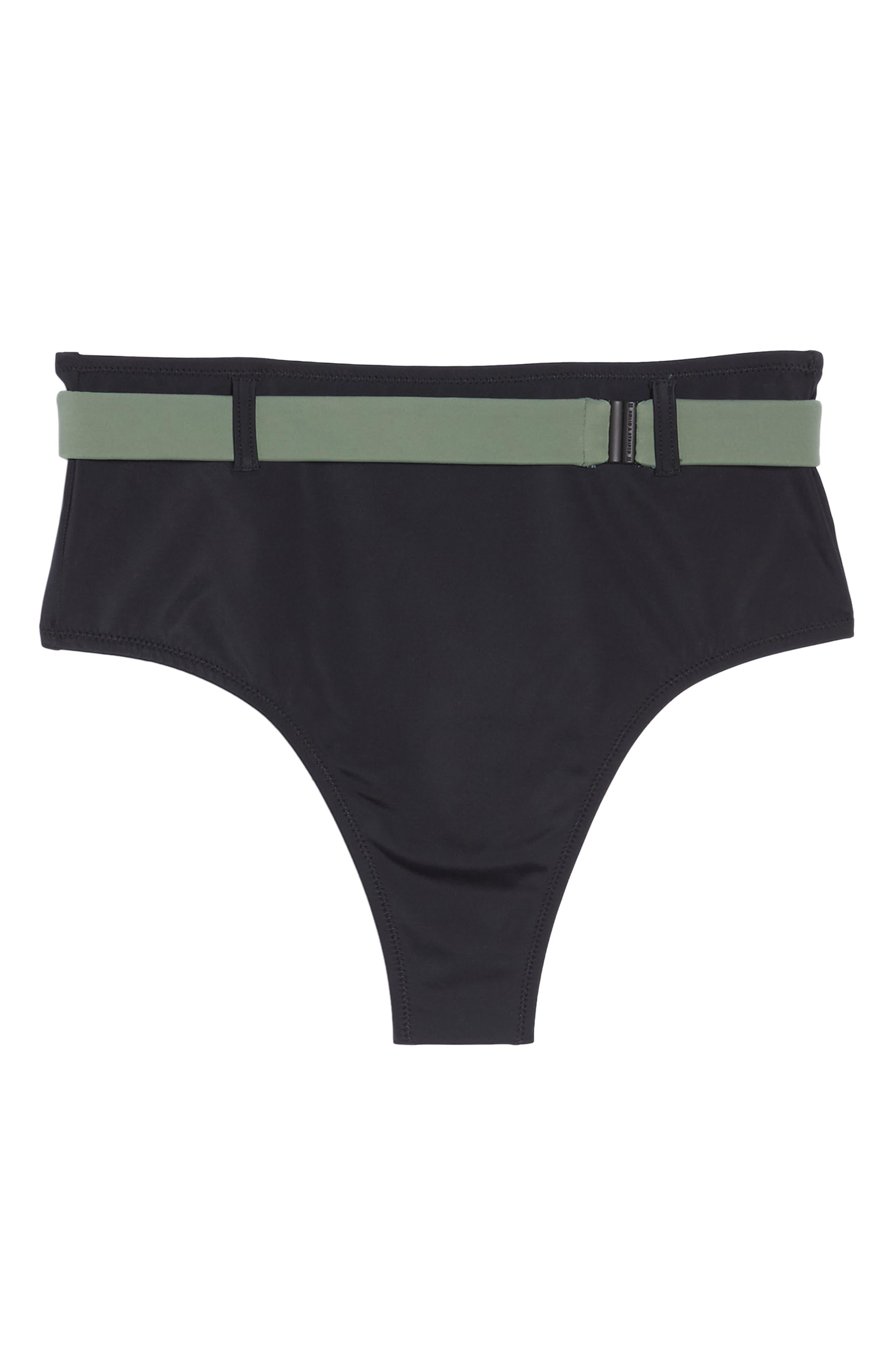 The Josephine High Waist Bikini Bottoms,                             Alternate thumbnail 9, color,                             Black