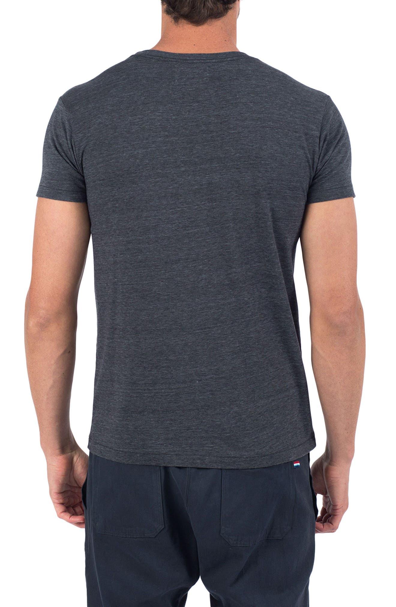 Good Day T-Shirt,                             Alternate thumbnail 2, color,                             V Black