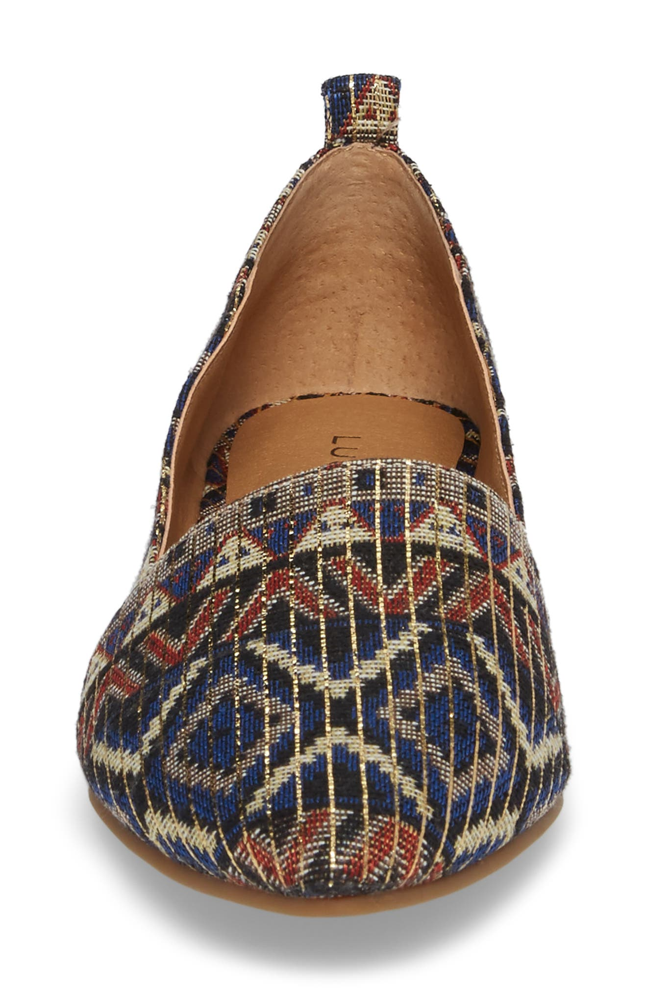 Beechmer Pointy Toe Flat,                             Alternate thumbnail 4, color,                             Picante Leather