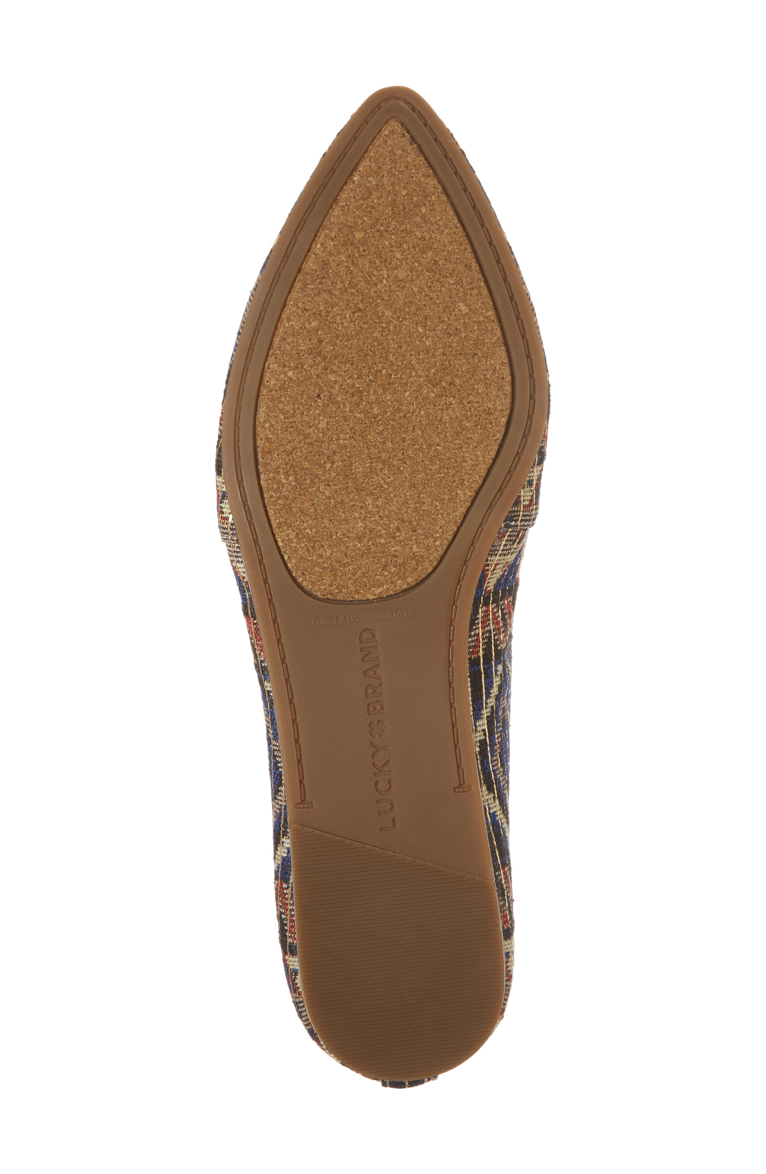 Beechmer Pointy Toe Flat,                             Alternate thumbnail 6, color,                             Picante Leather