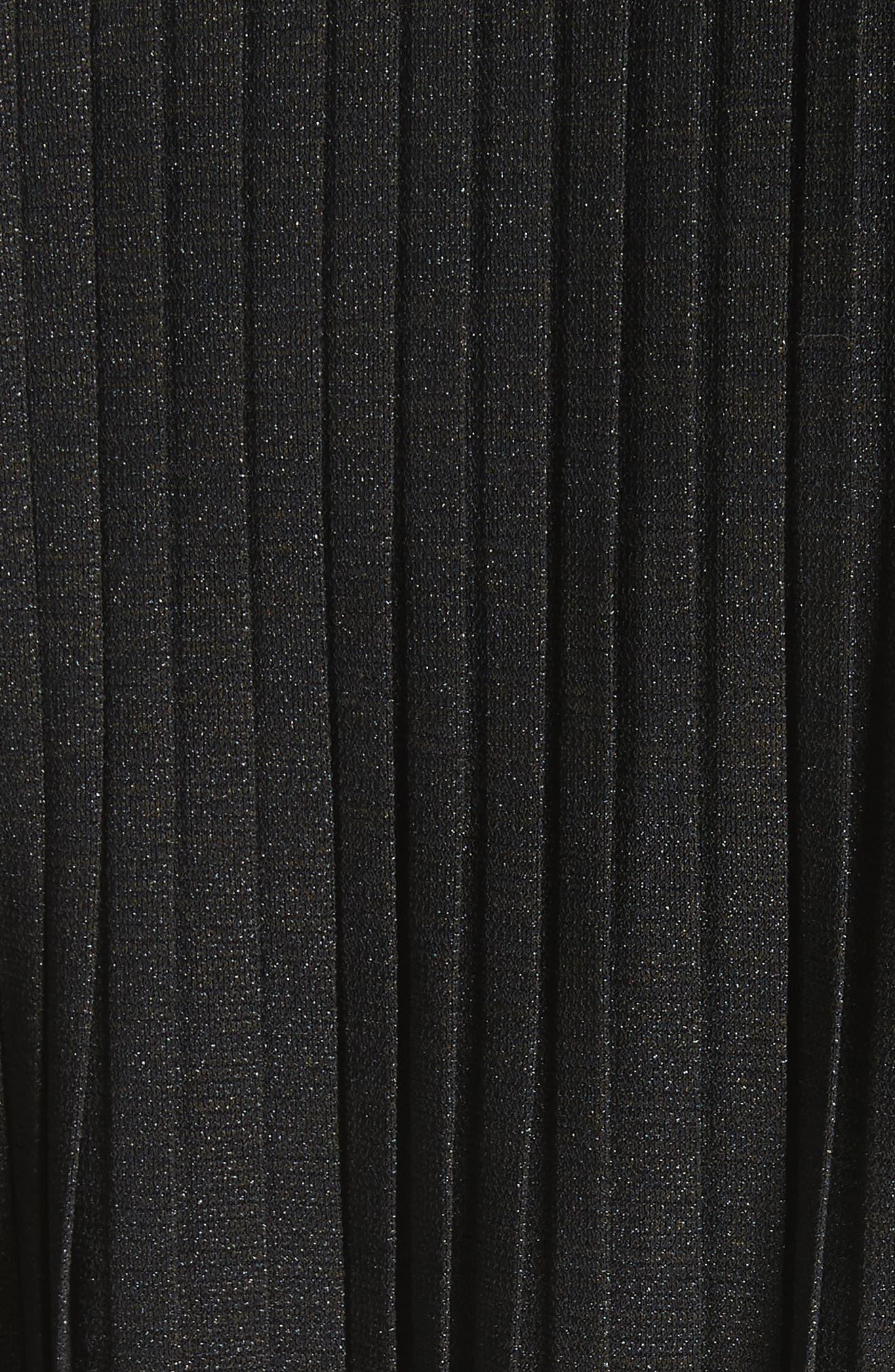 Slit Sleeve Peasant Top,                             Alternate thumbnail 5, color,                             Black