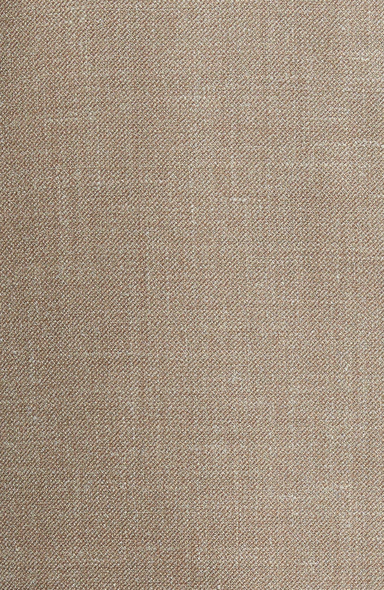 Classic Fit Wool Blend Blazer,                             Alternate thumbnail 5, color,                             Tan