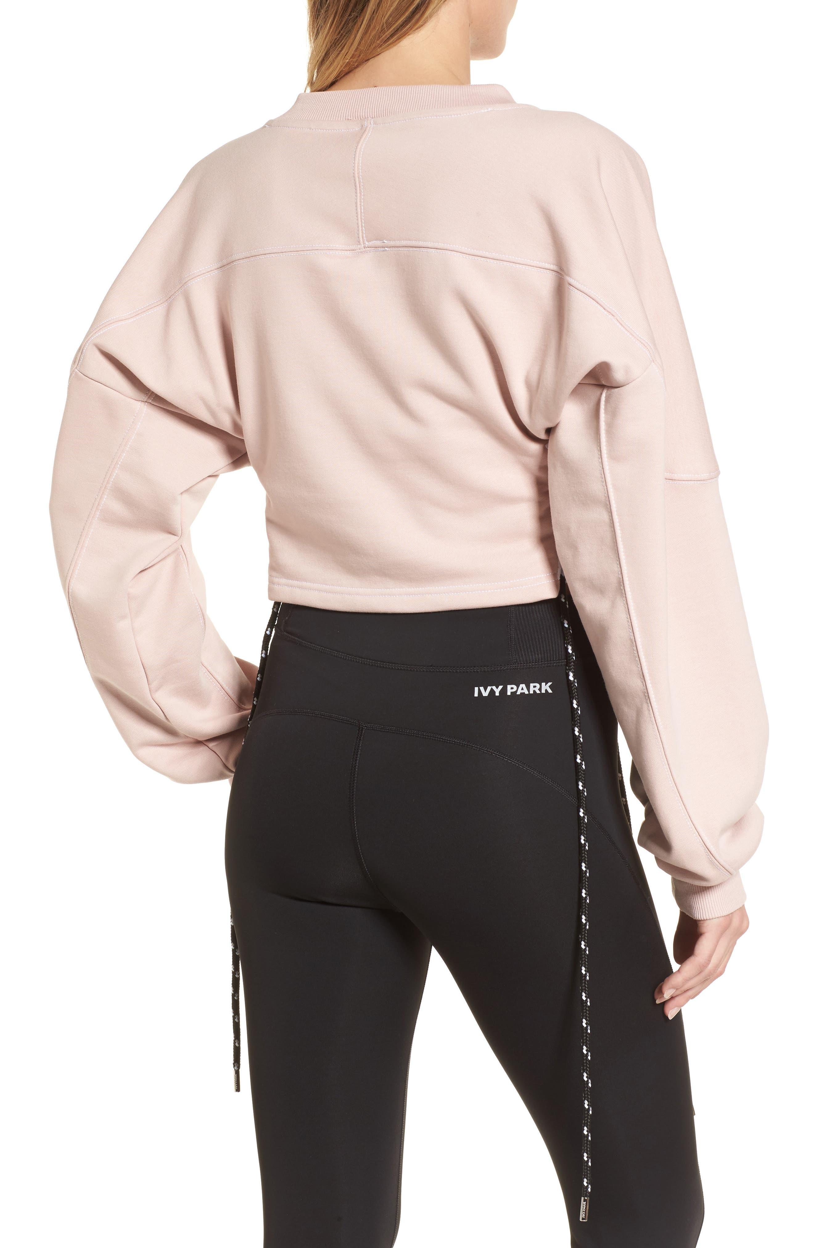 Alternate Image 3  - IVY PARK® Football Lace-Up Sweatshirt