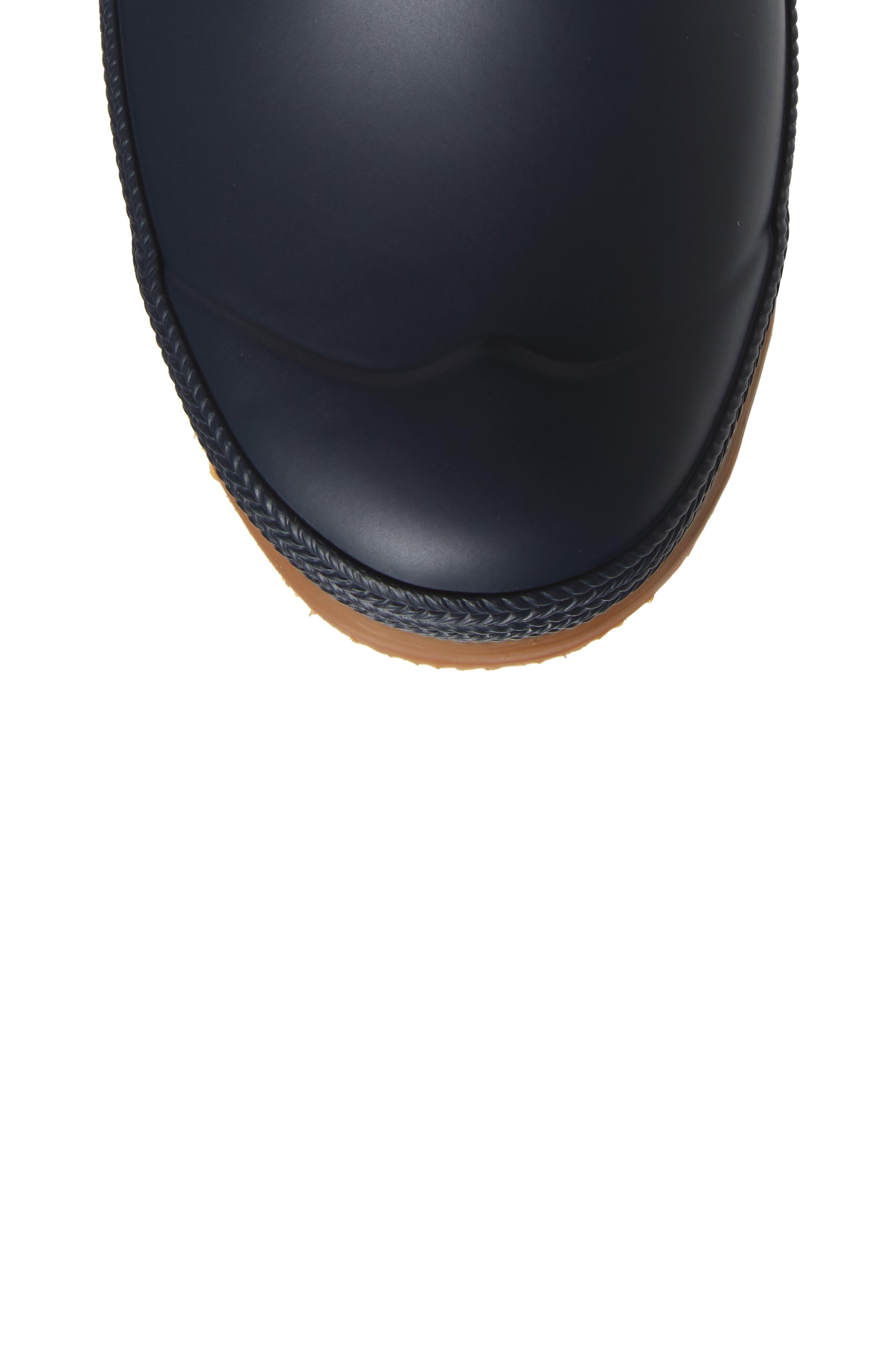 Original Sissinghurst Waterproof Pull-On Boot,                             Alternate thumbnail 5, color,                             Navy/ Gum