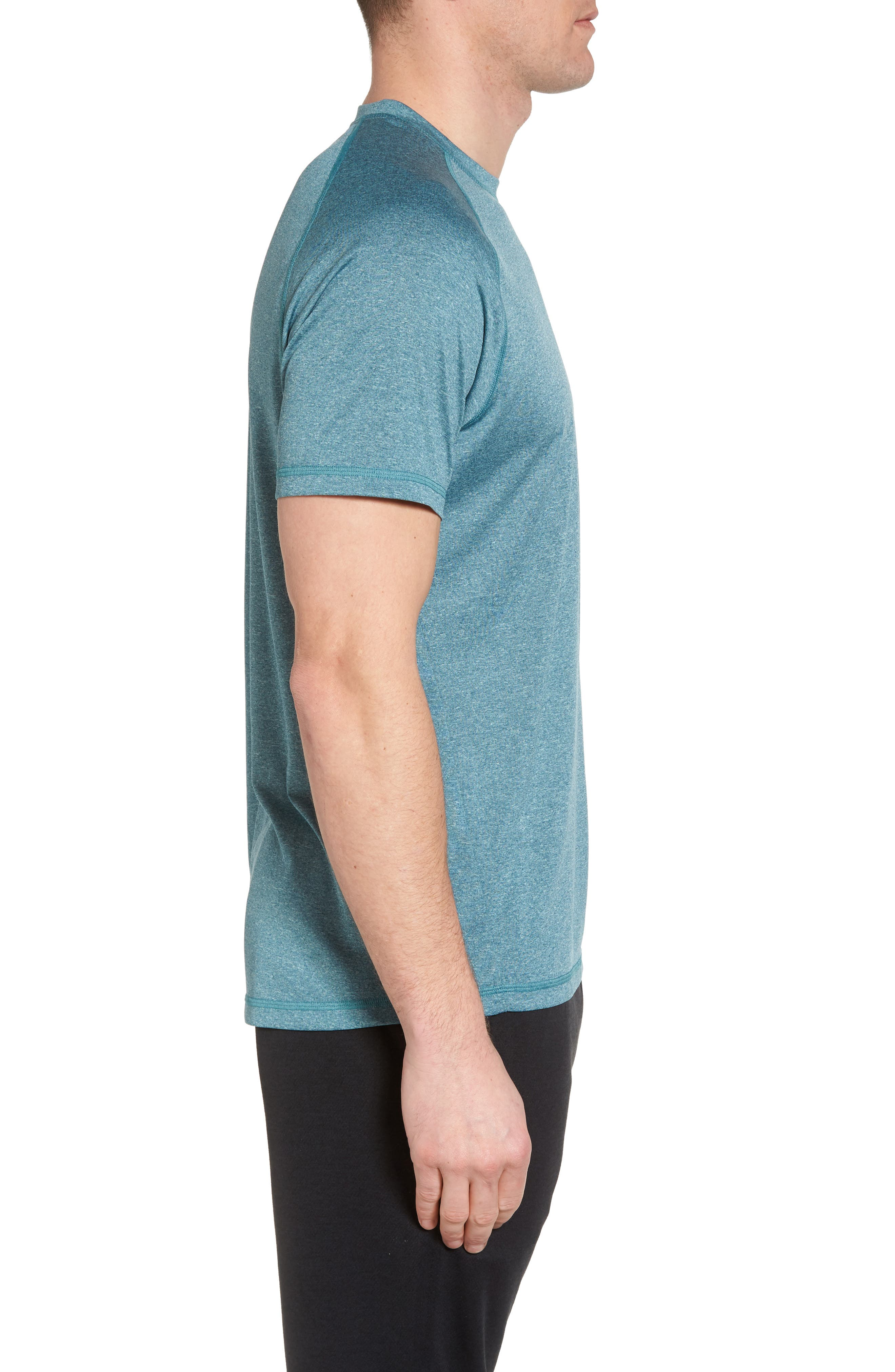 Jordanite Crewneck T-Shirt,                             Alternate thumbnail 3, color,                             Teal Tourmaline Melange