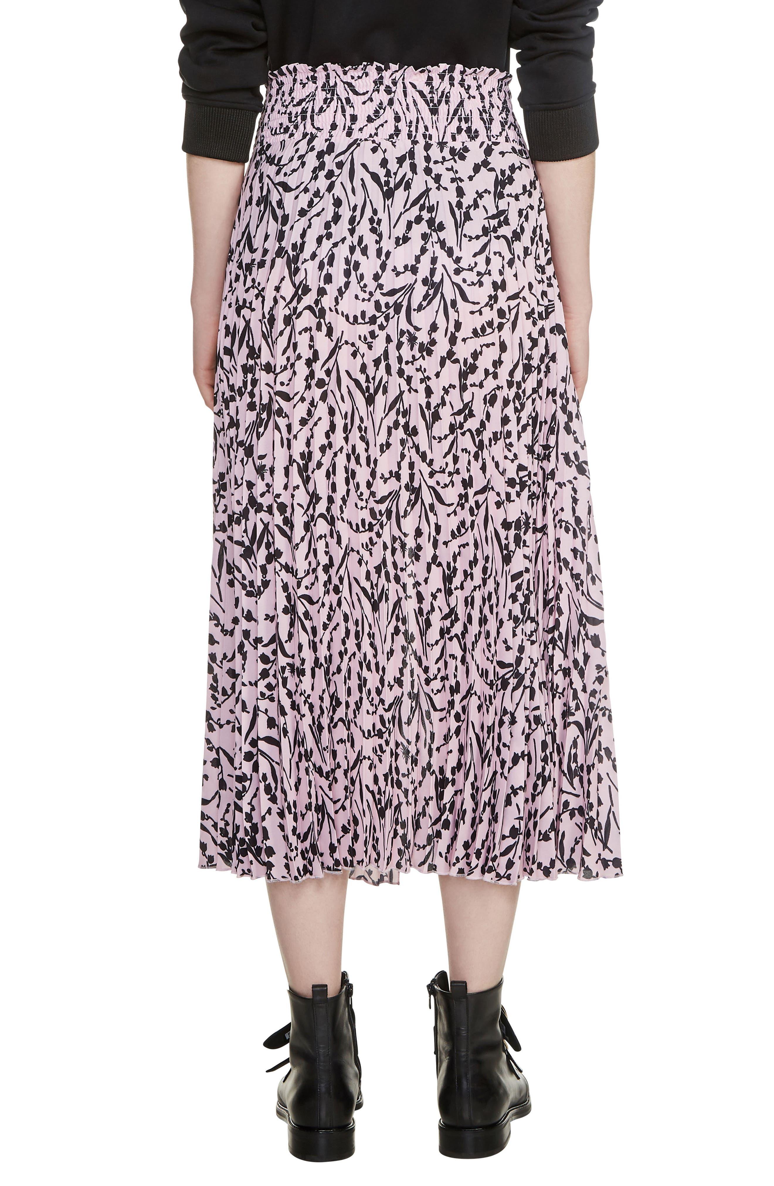 Javina Pleated Midi Skirt,                             Alternate thumbnail 2, color,                             Printed
