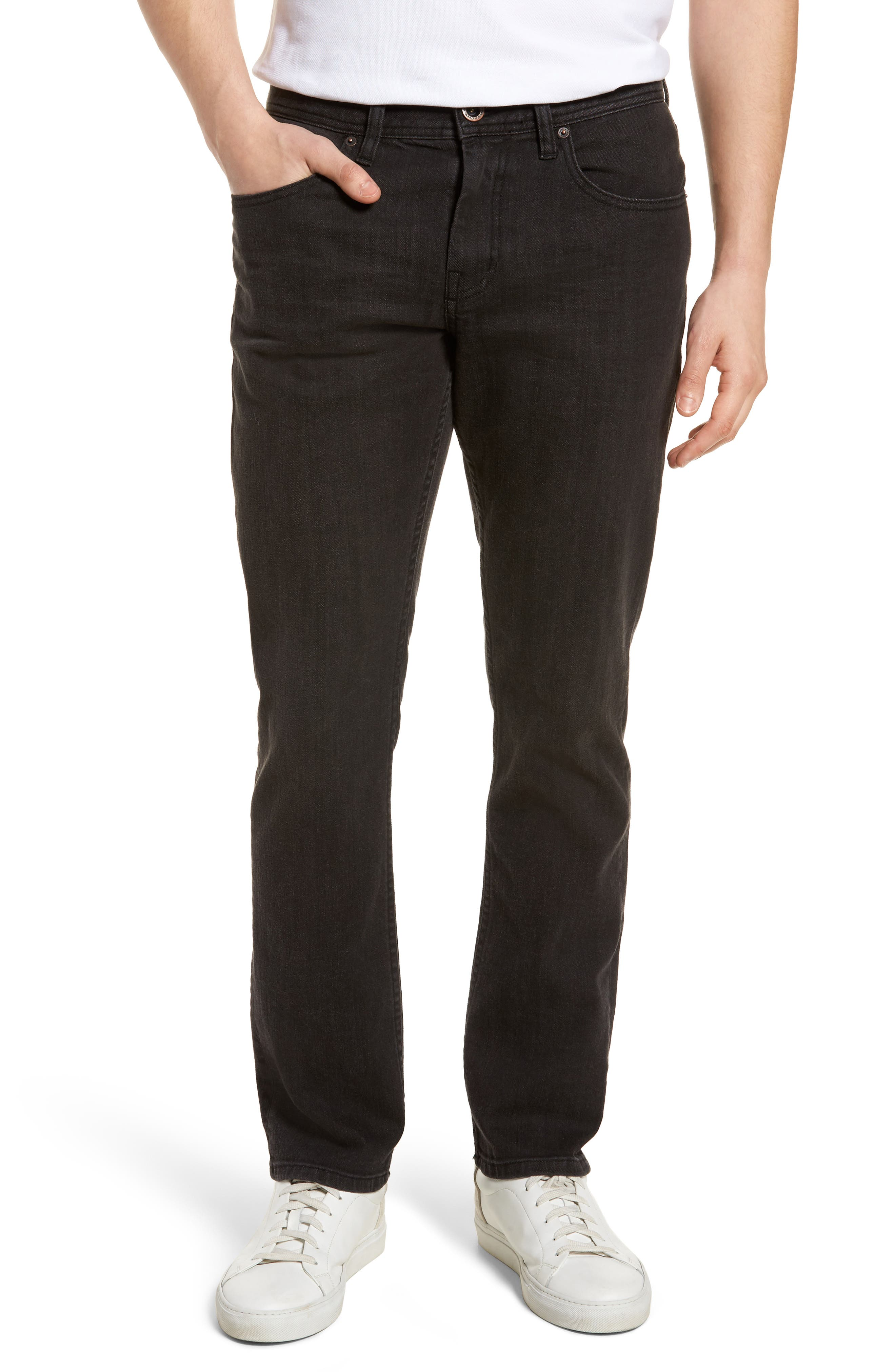 The Standard Regular Fit Straight Leg Jeans,                         Main,                         color, Charcoal