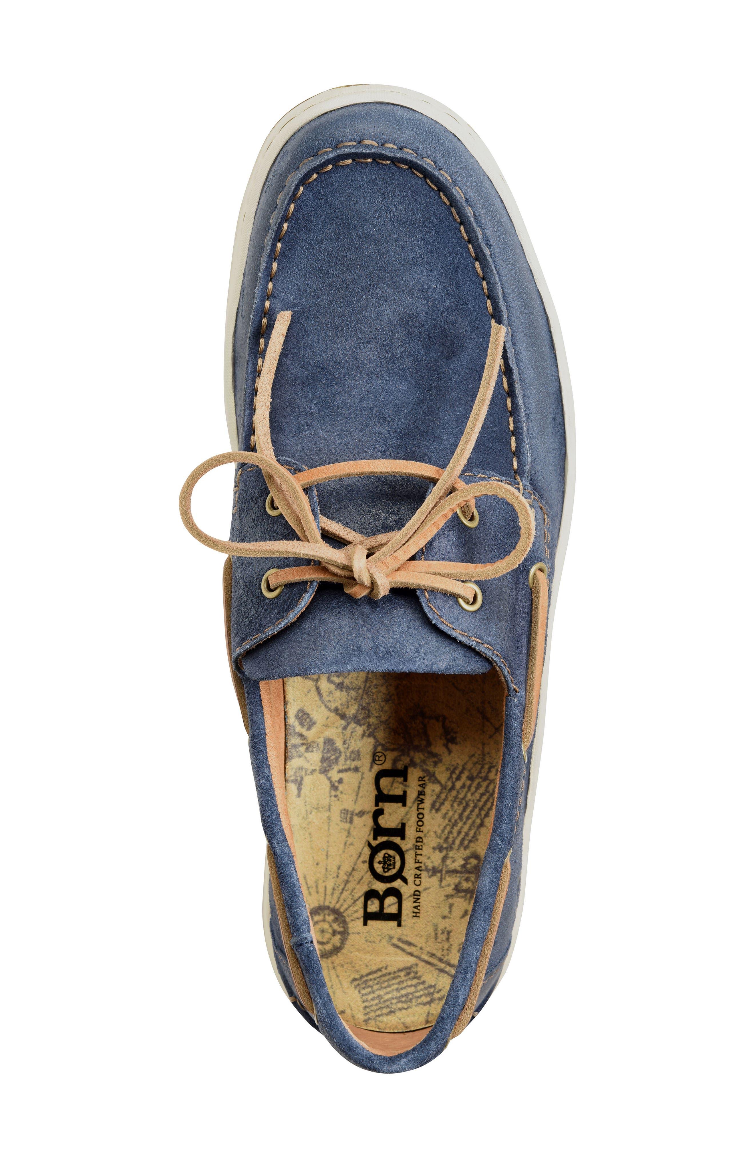 Ocean Boat Shoe,                             Alternate thumbnail 5, color,                             Dark Blue Leather