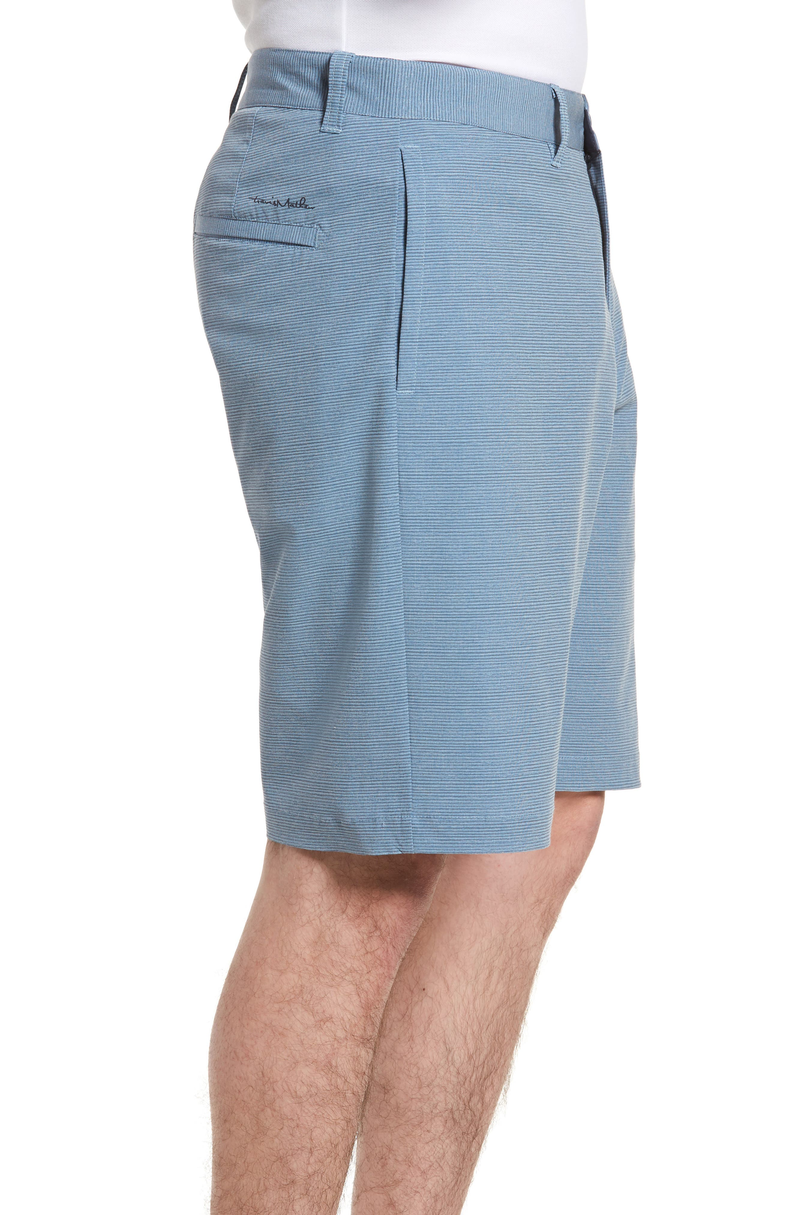Toro Regular Fit Microstripe Shorts,                             Alternate thumbnail 3, color,                             French Blue/ Micro Chip