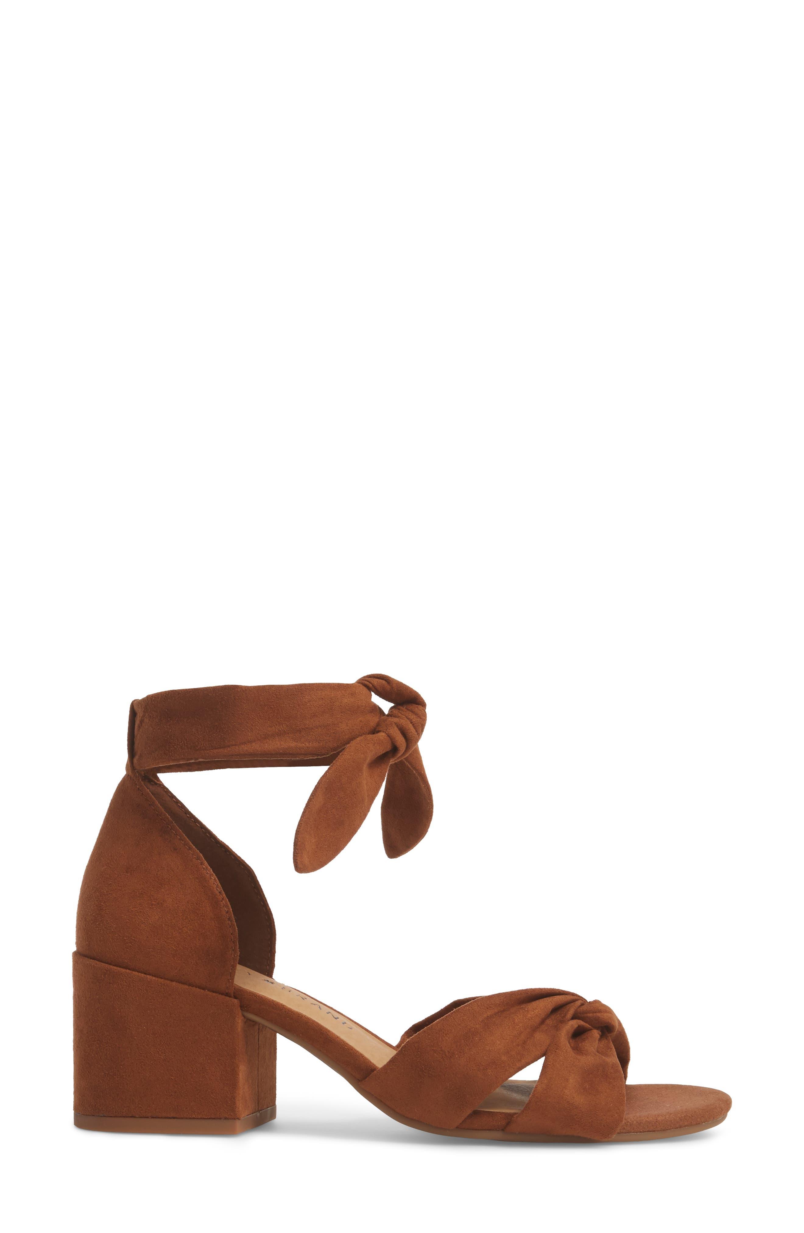 Xaylah Ankle Strap Sandal,                             Alternate thumbnail 3, color,                             Cedar Leather