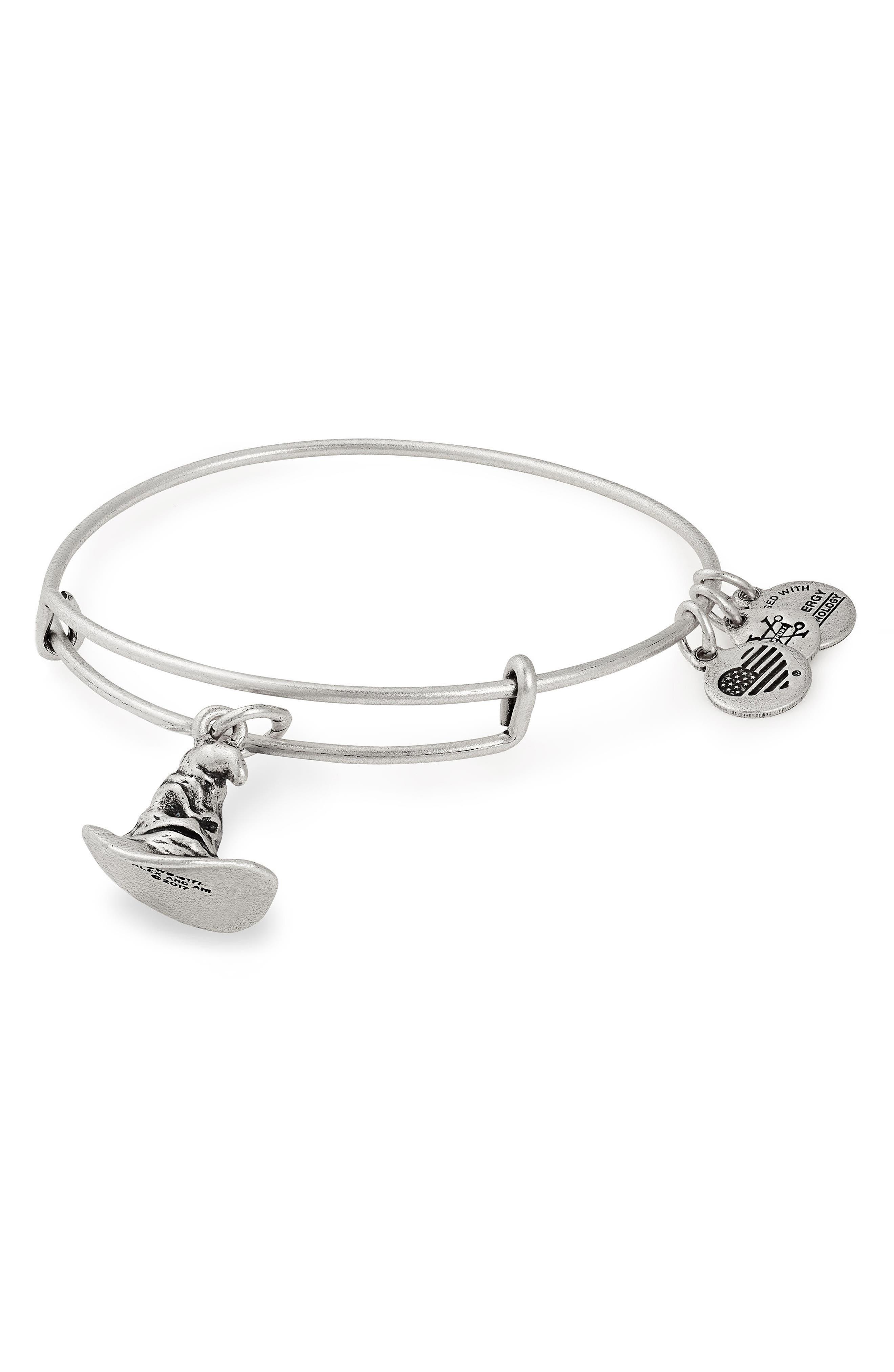 Harry Potter Sorting Hat Adjustable Bracelet,                         Main,                         color, Silver