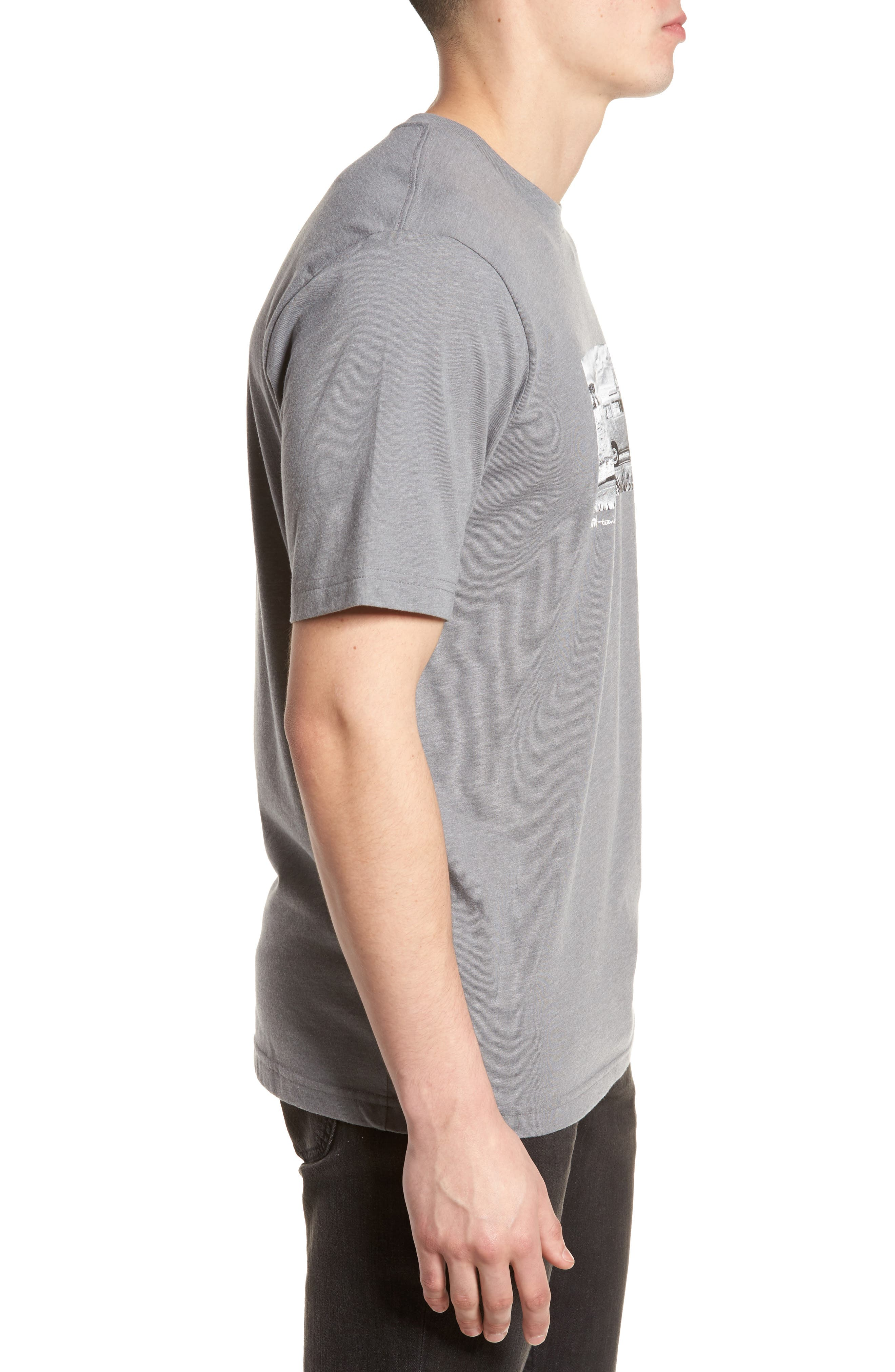 The Bus Stop Graphic T-Shirt,                             Alternate thumbnail 3, color,                             Heather Grey