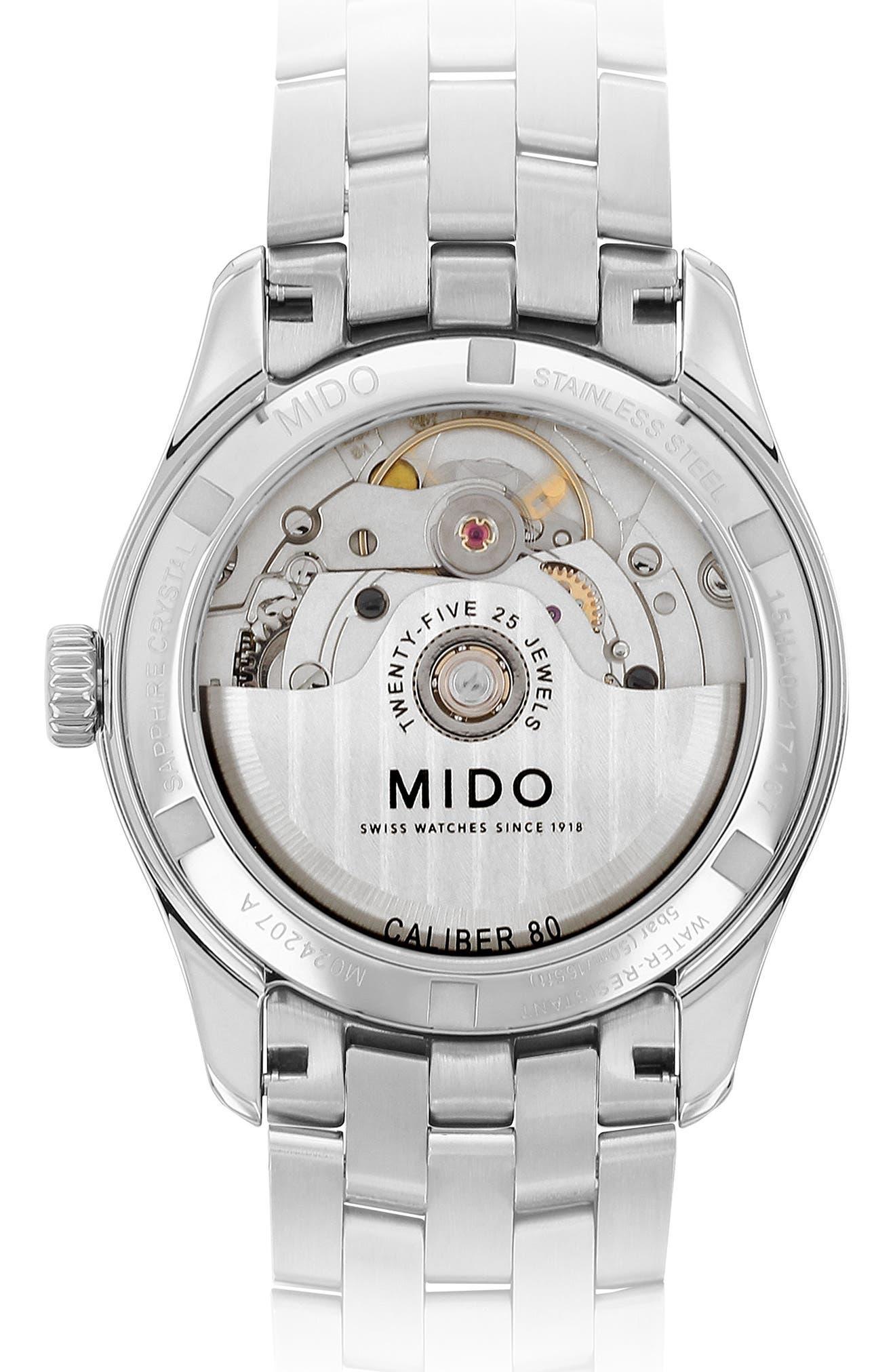 Alternate Image 2  - Mido Belluna II Bracelet Watch, 33mm