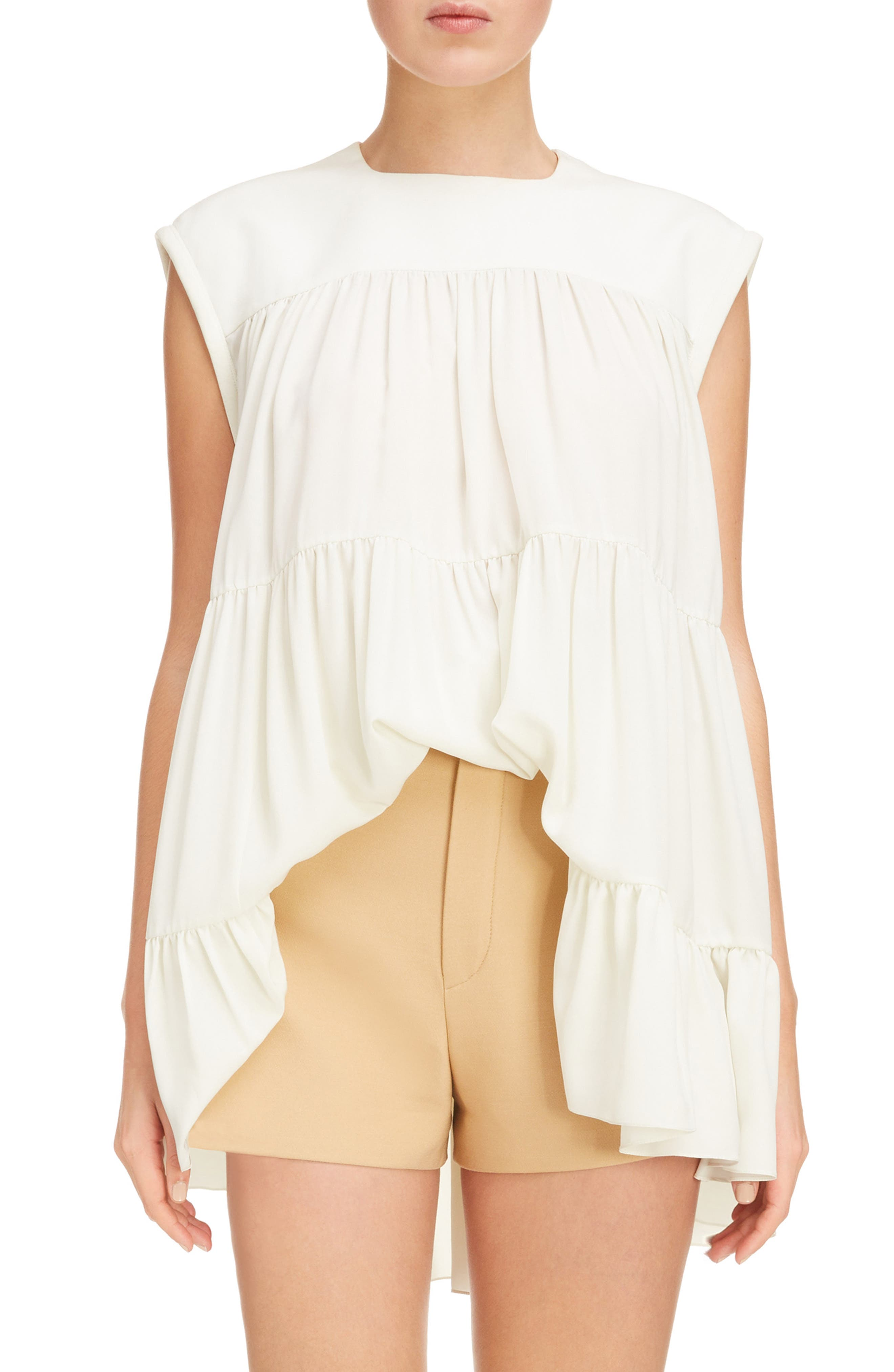 Main Image - Chloé Tiered Silk Top