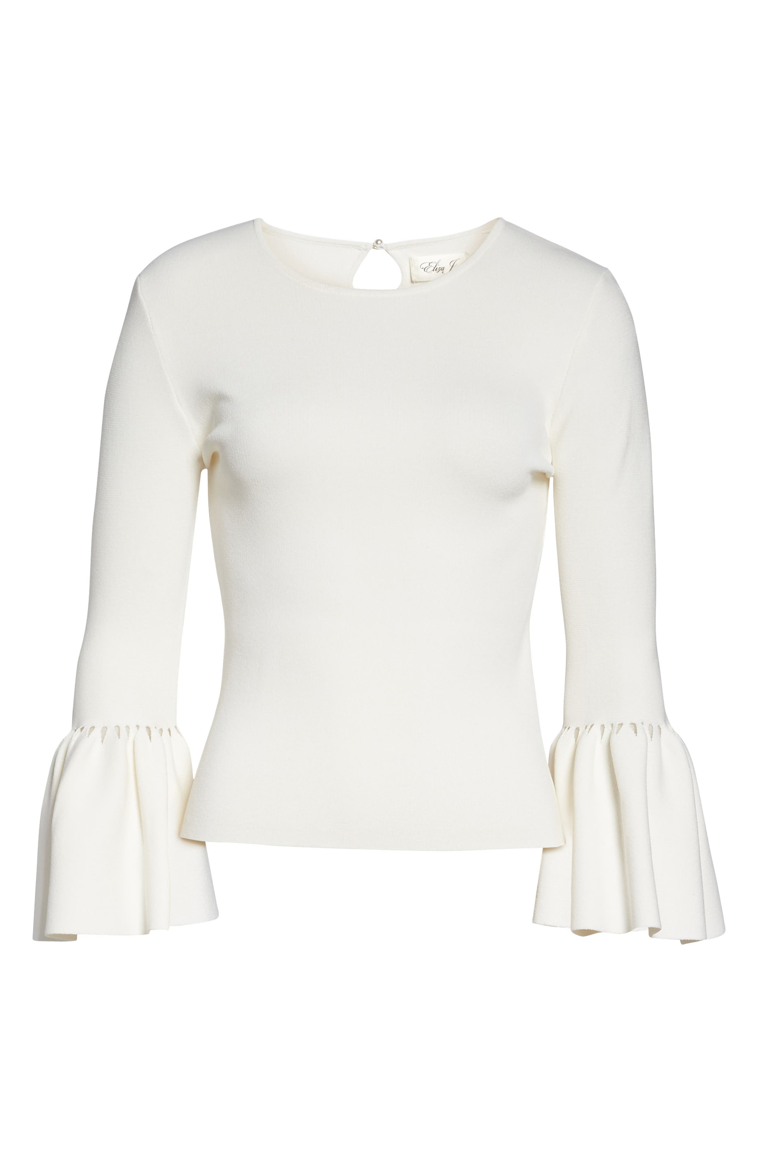 Social Bell Sleeve Top,                             Alternate thumbnail 6, color,                             Ivy