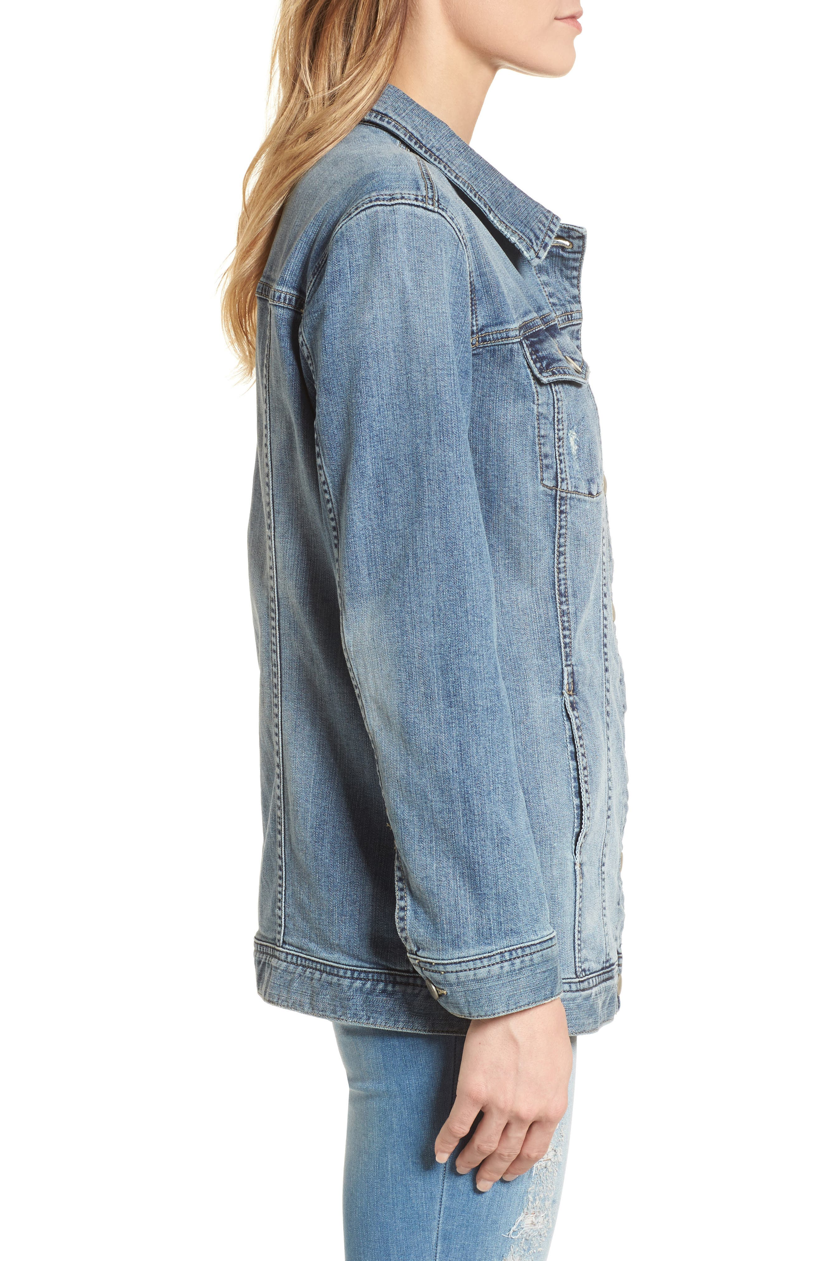 Alternate Image 3  - Caslon® Relaxed Fit Denim Jacket (Regular & Petite)