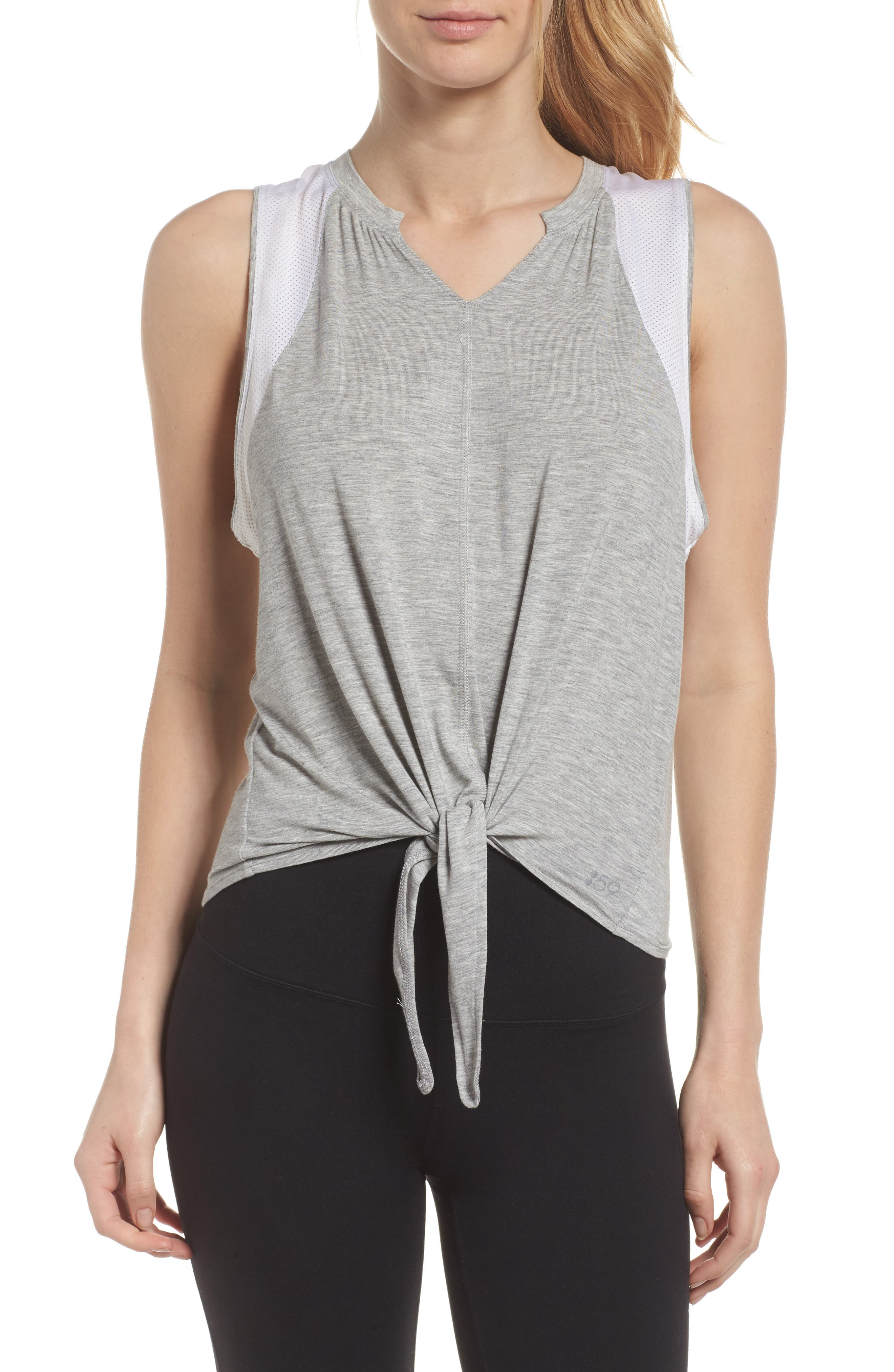 Bandit Tank,                         Main,                         color, Heather Grey/ Off White