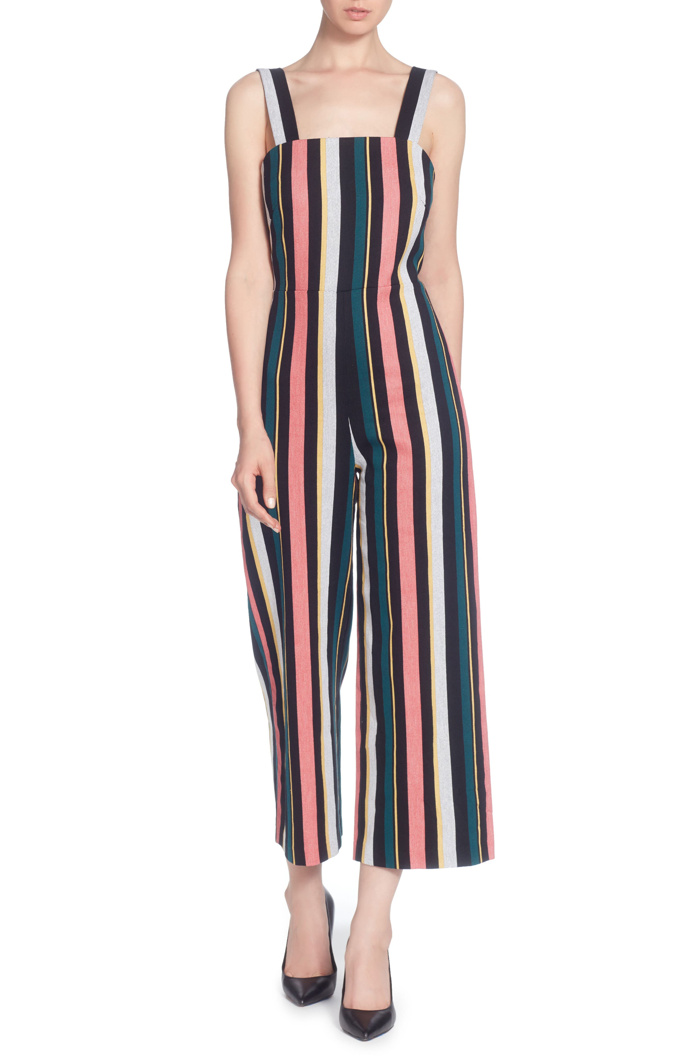 Tuesday Jumpsuit,                             Main thumbnail 1, color,                             Multi Stripe