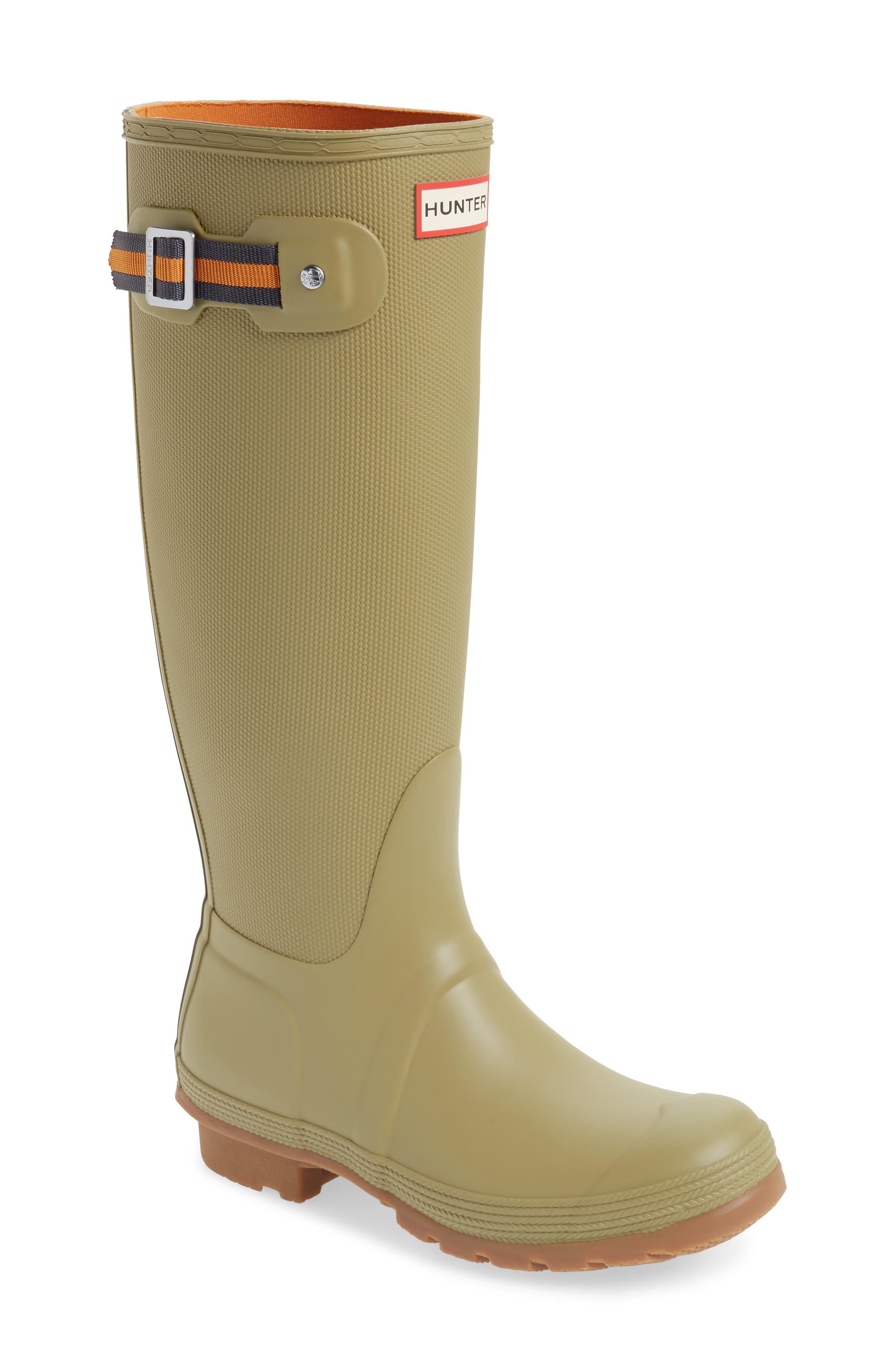 Original Sissinghurst Tall Rain Boot,                             Main thumbnail 1, color,                             Sage/ Moor Green