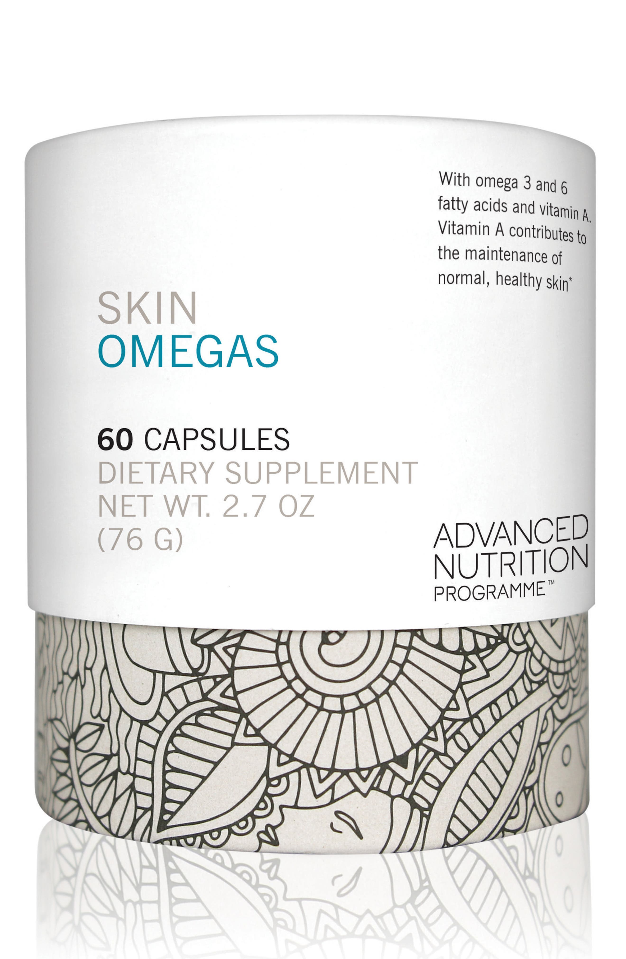 Skin Omegas Dietary Supplement,                             Main thumbnail 1, color,                             No Color