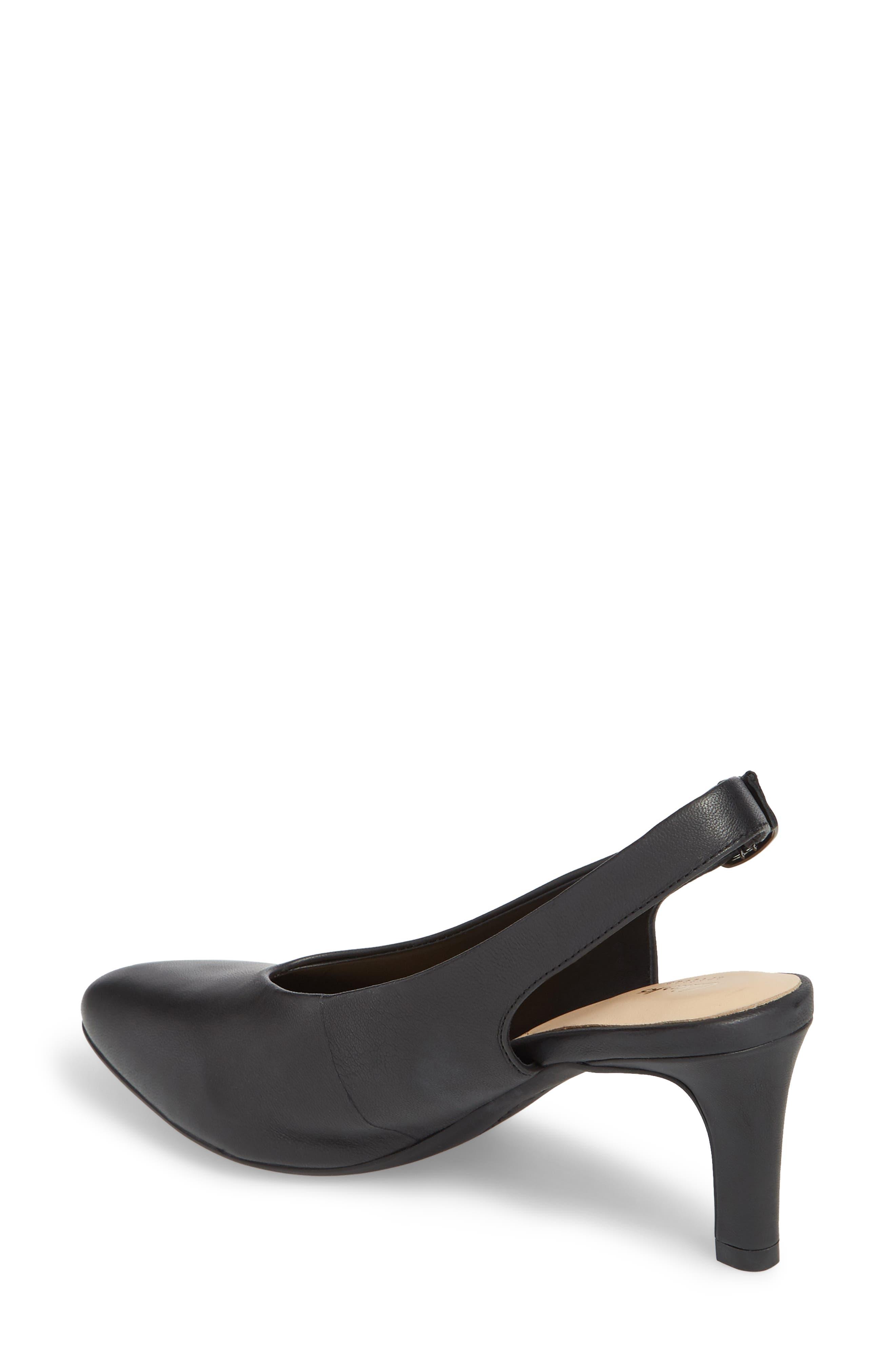 Calla Violet Kitten Heel Pump,                             Alternate thumbnail 2, color,                             Black Leather