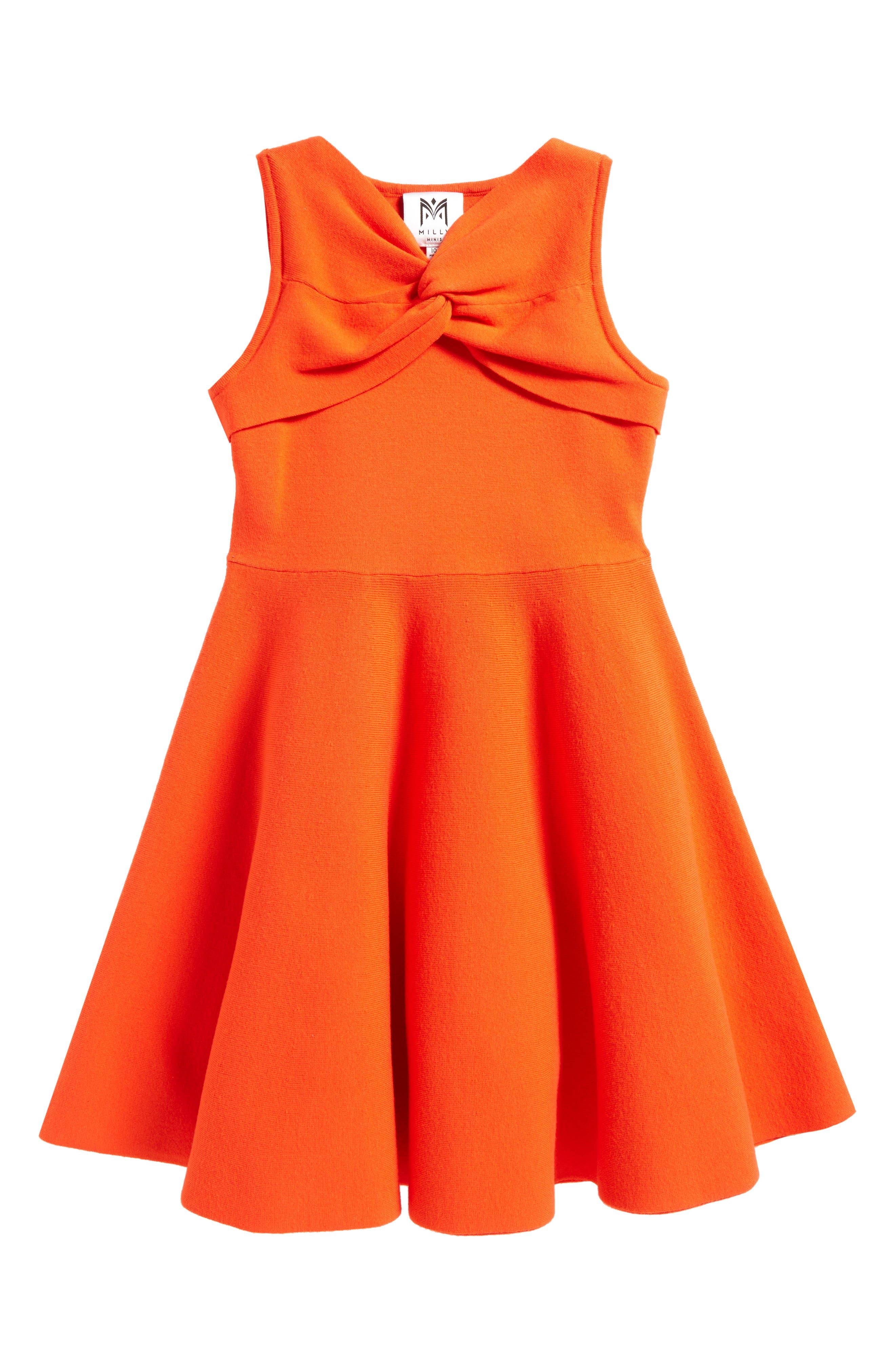 Milly Minis Twist Fit & Flare Dress (Big Girls)