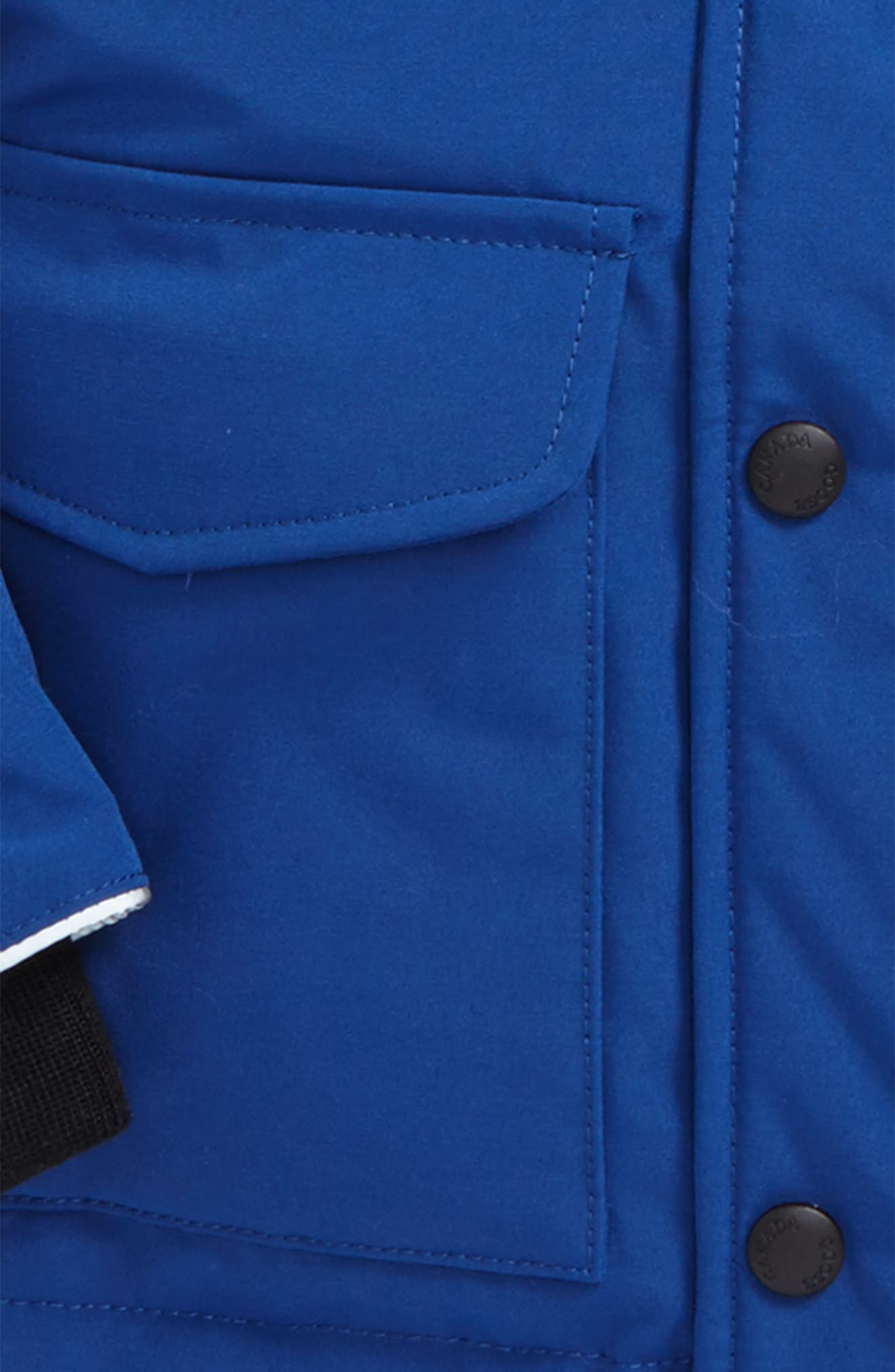 'Lynx' Down Parka with Genuine Coyote Fur Trim,                             Alternate thumbnail 2, color,                             Pacific Blue