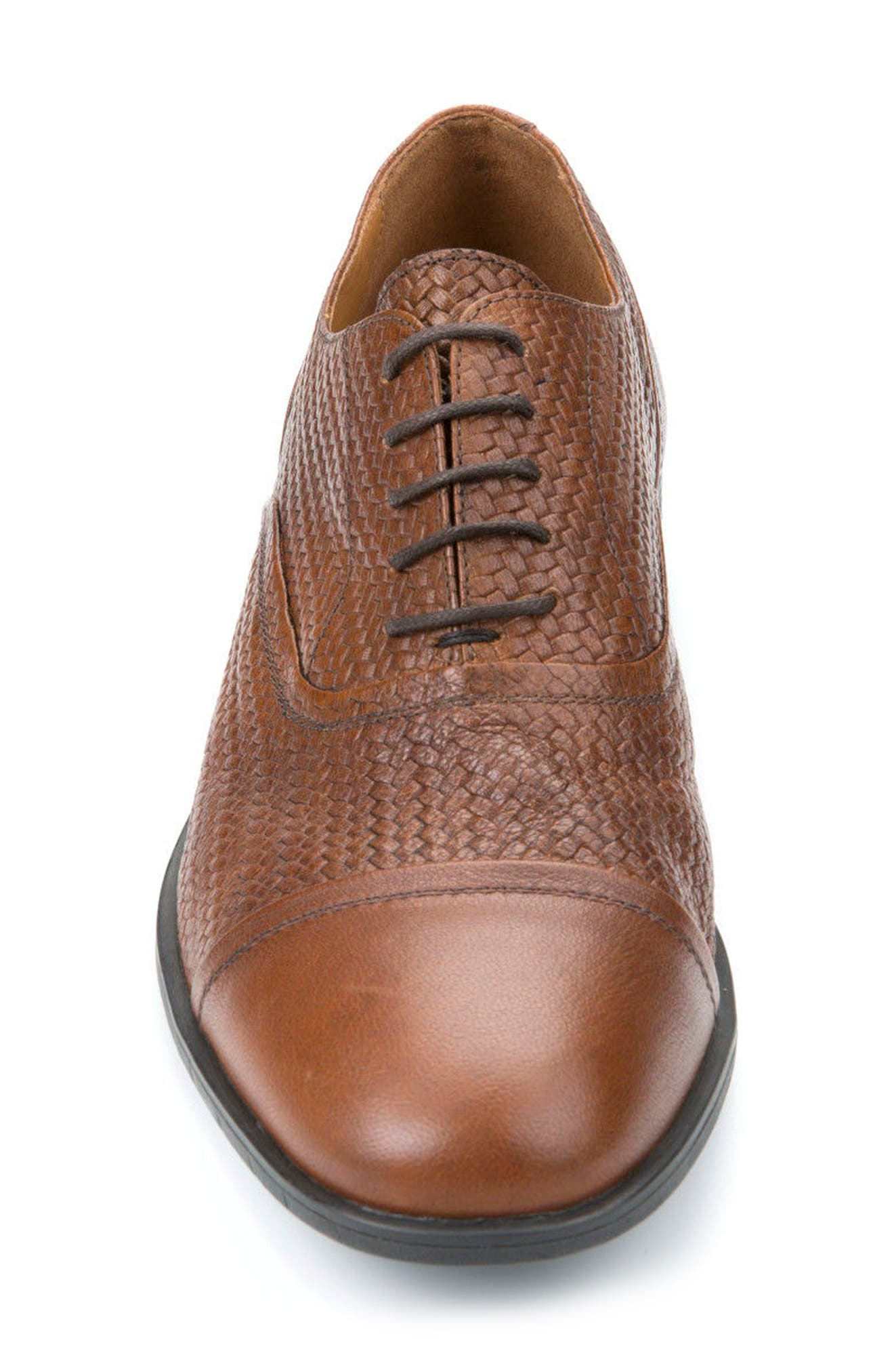 Alternate Image 4  - Geox Bryceton Textured Cap Toe Oxford (Men)
