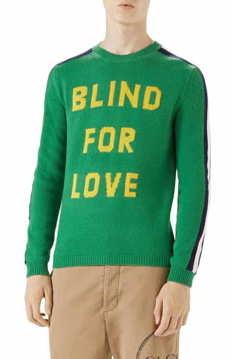 b7be09ee4d88 Gucci Blind for Love Snake Wool Crewneck Sweater