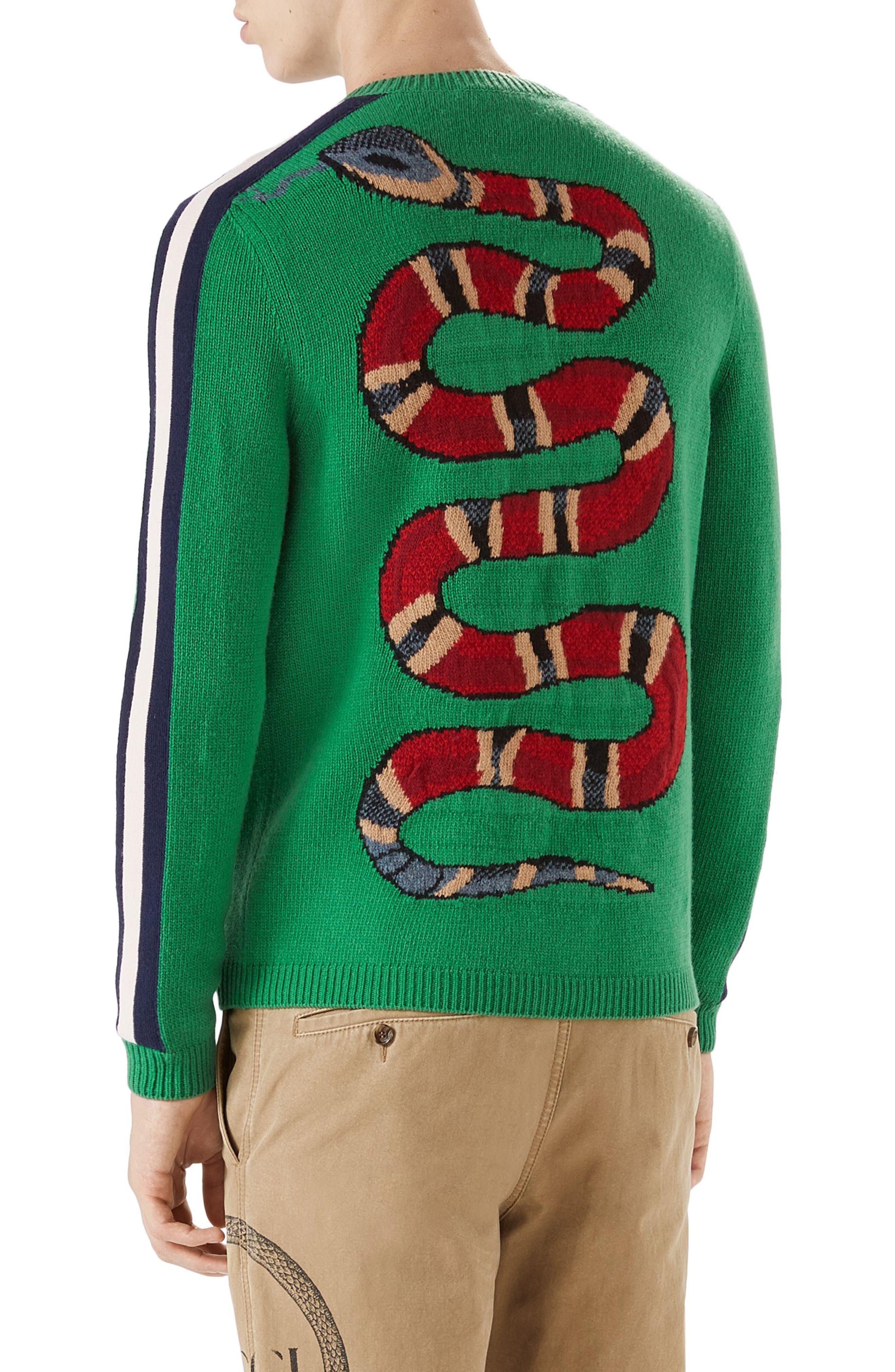 Alternate Image 2  - Gucci Blind for Love Snake Wool Crewneck Sweater