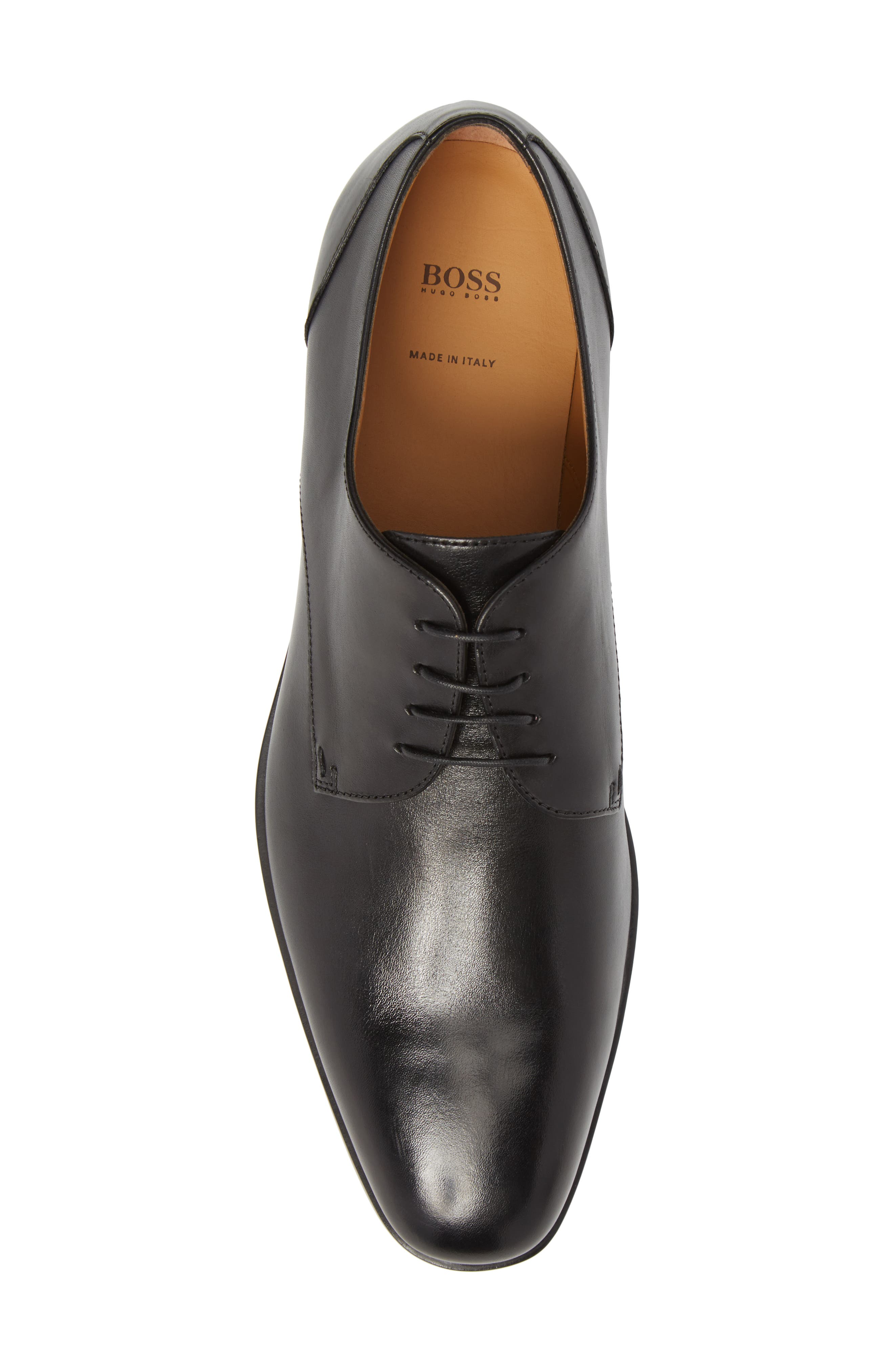 Portland Plain Toe Derby,                             Alternate thumbnail 5, color,                             Black Leather