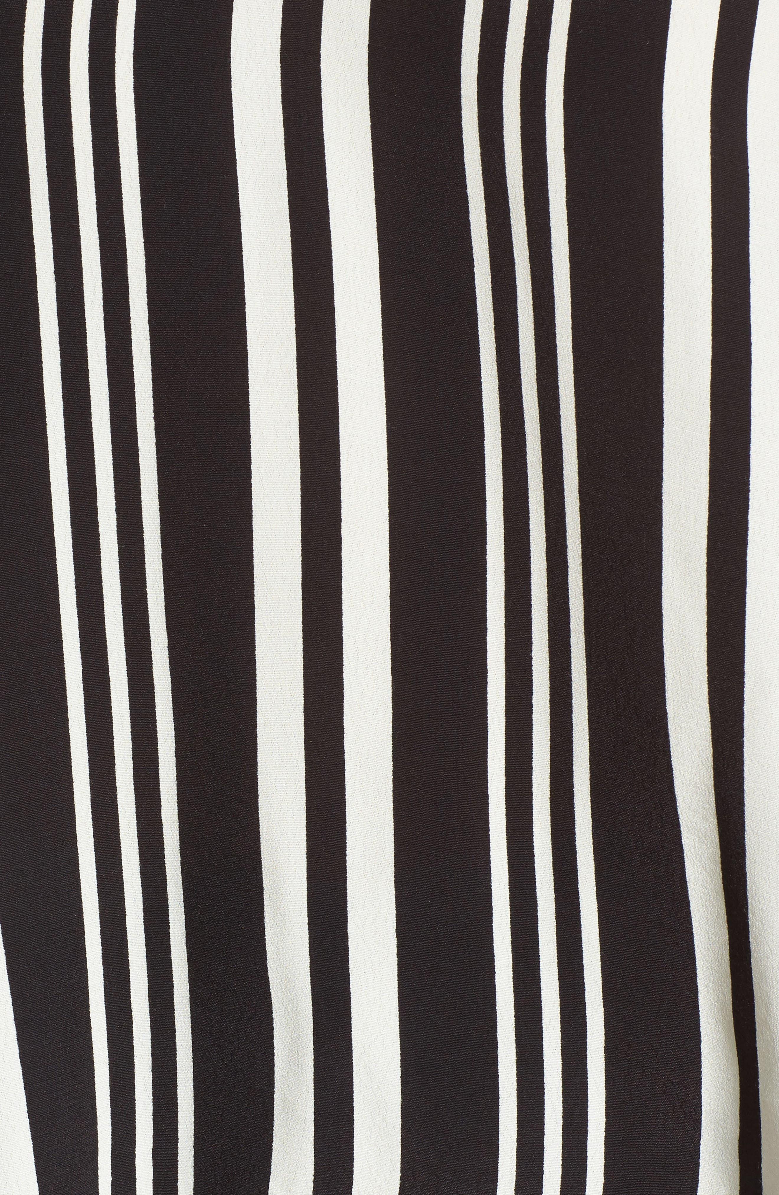 Double V Swing Tank,                             Alternate thumbnail 5, color,                             Black Bold Wide Stripe