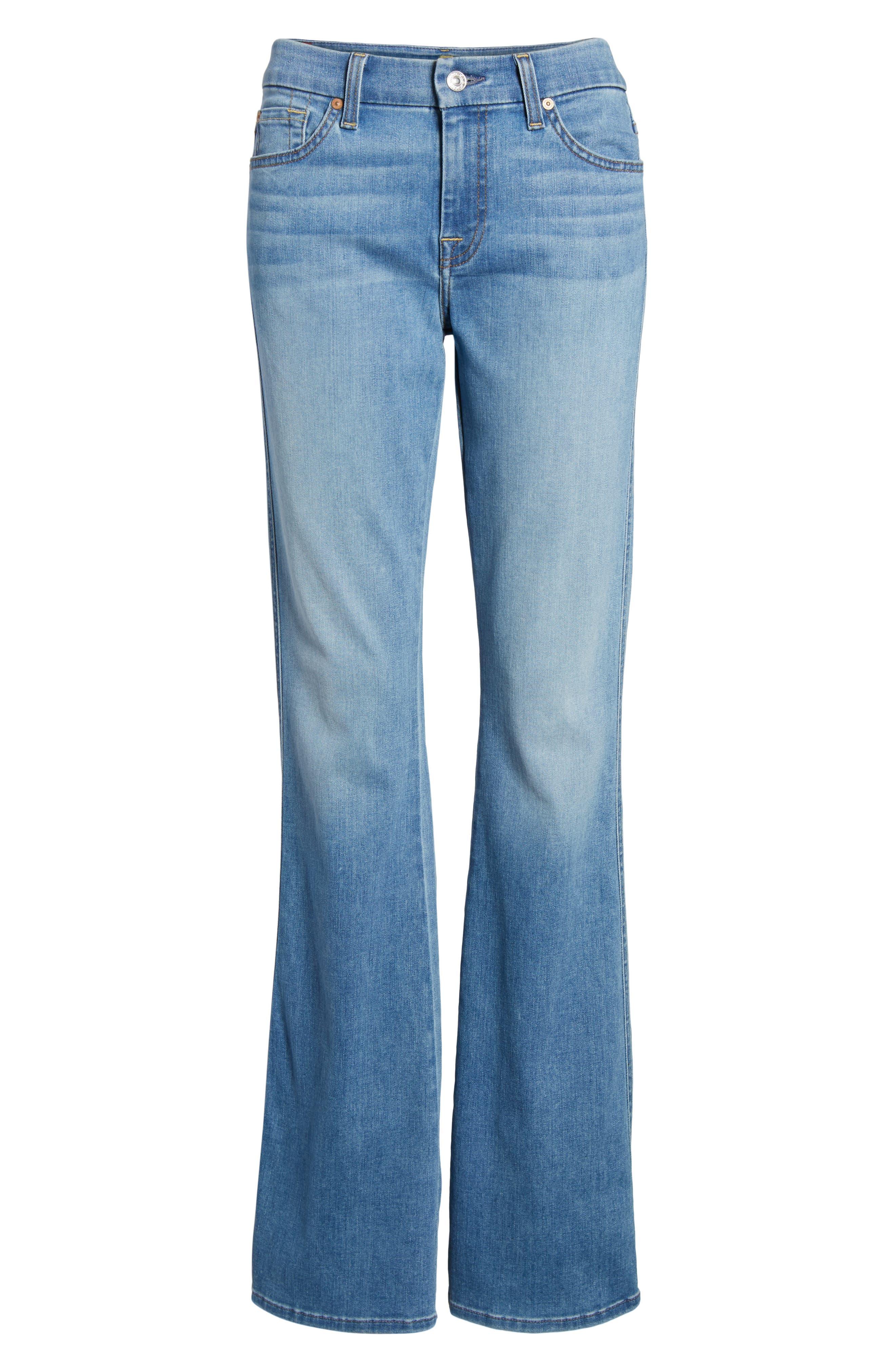 A-Pocket Flare Leg Jeans,                             Alternate thumbnail 7, color,                             Bright Palms