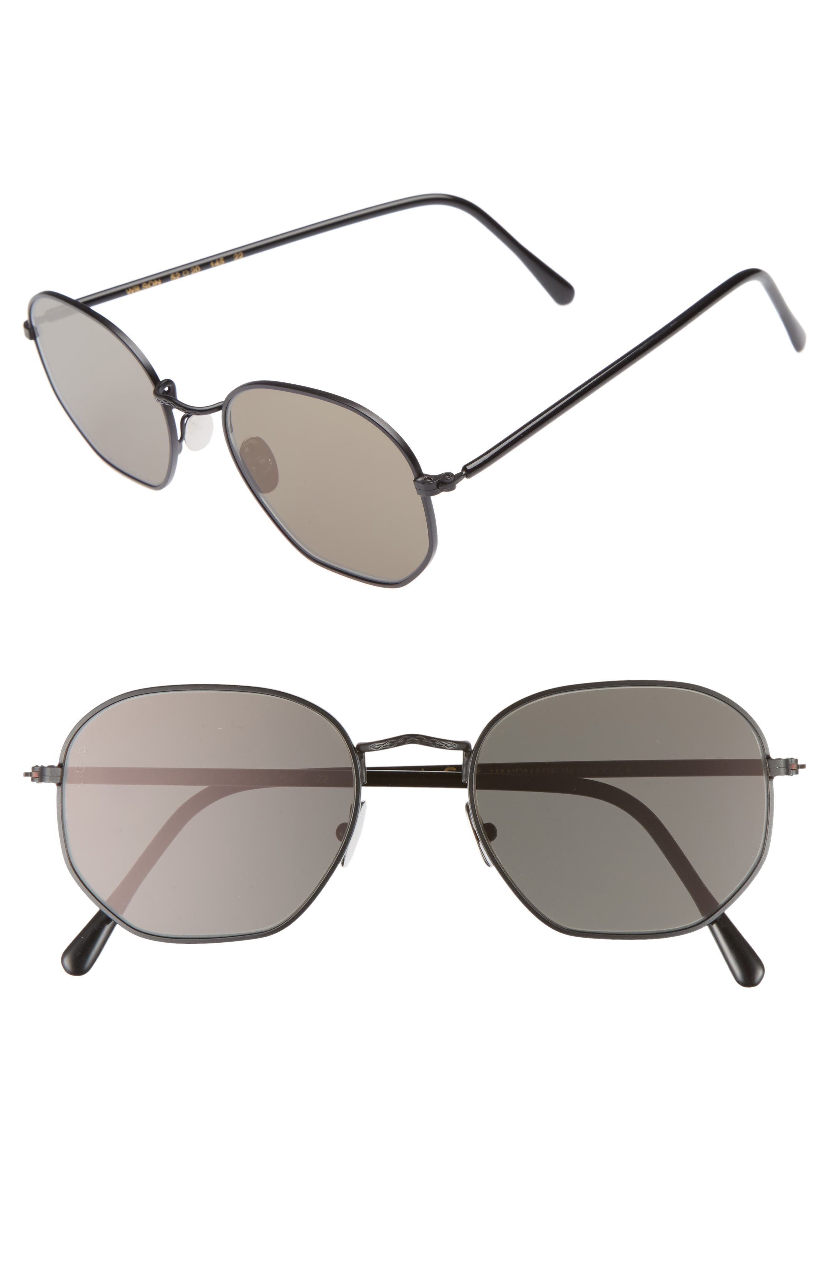 Wilson 52mm Sunglasses,                             Main thumbnail 1, color,                             Black Matte/ Grey