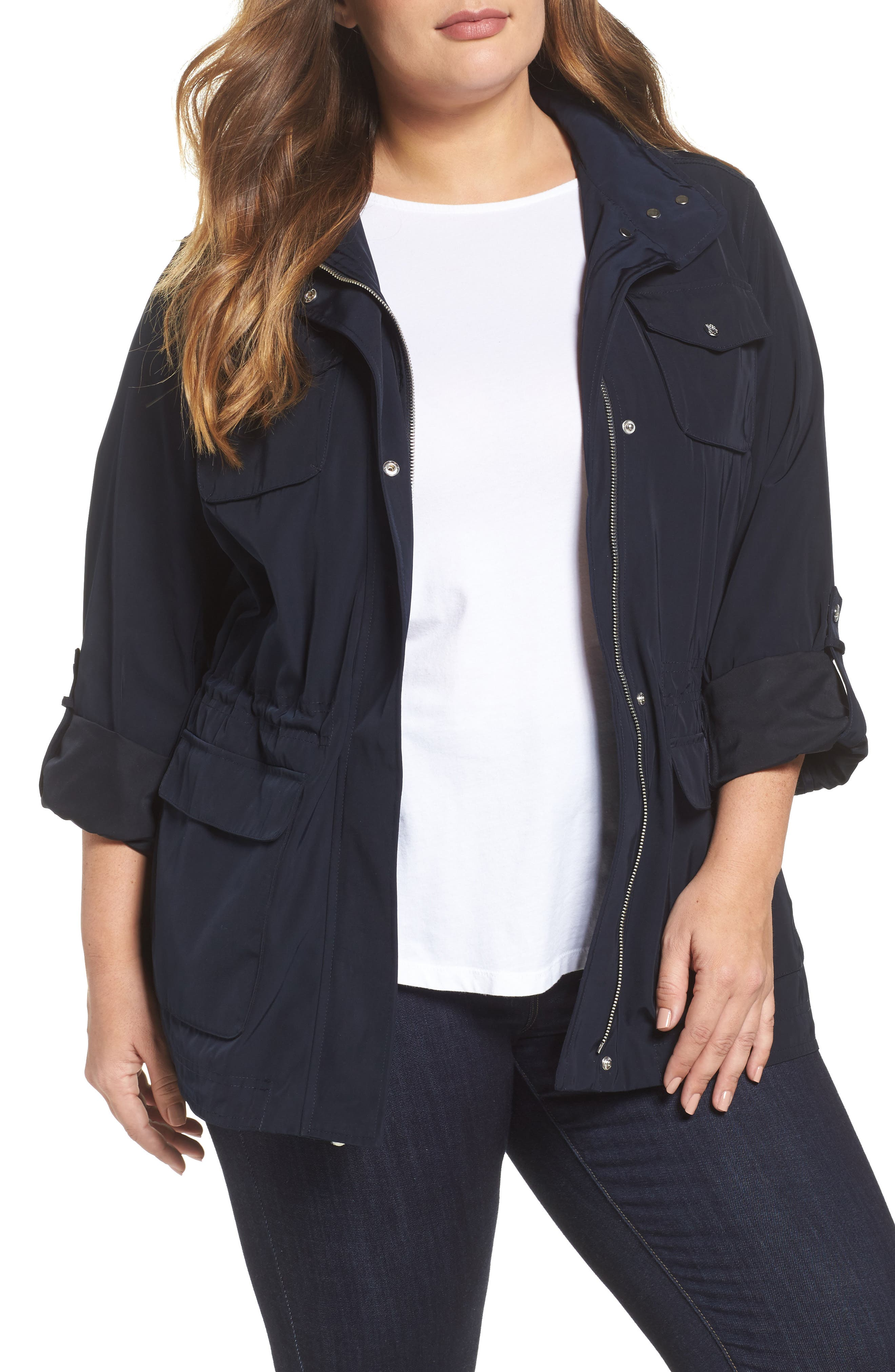 Americana Parka,                         Main,                         color, Navy