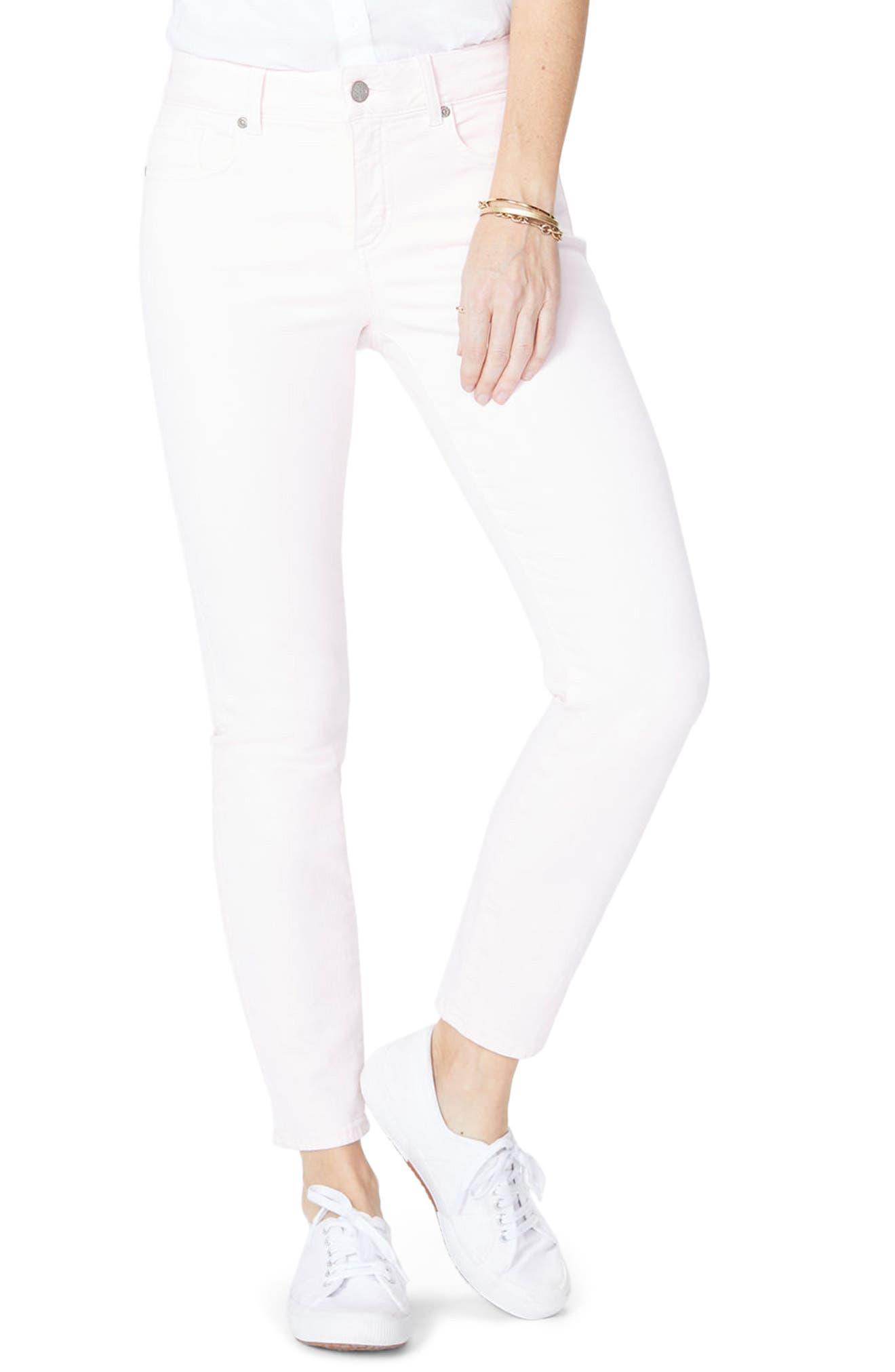 Alternate Image 1 Selected - NYDJ Alina Ankle Jeans (Light Primrose)