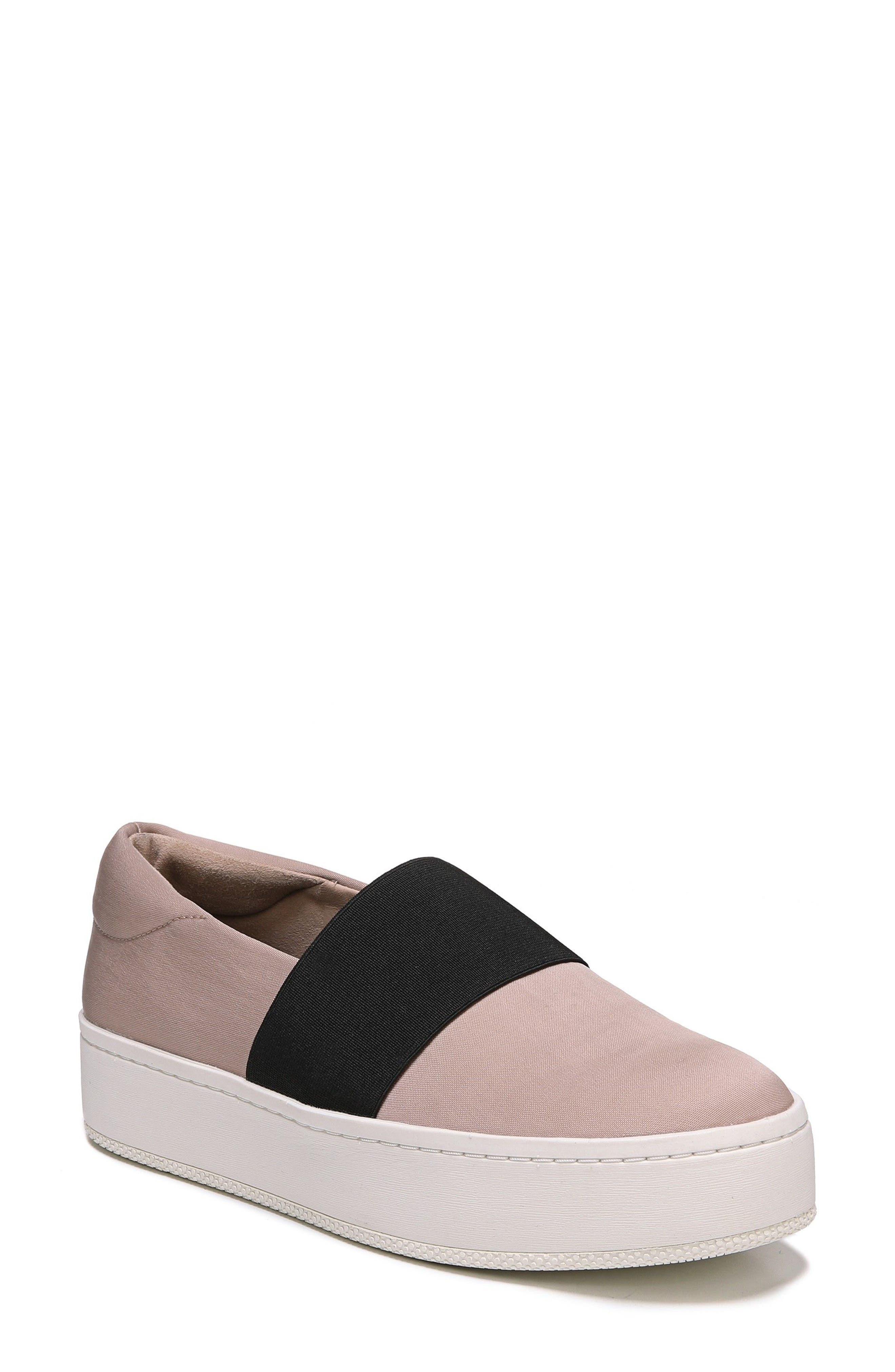 Traynor Platform Slip-On,                             Main thumbnail 1, color,                             Blush/ Black Fabric