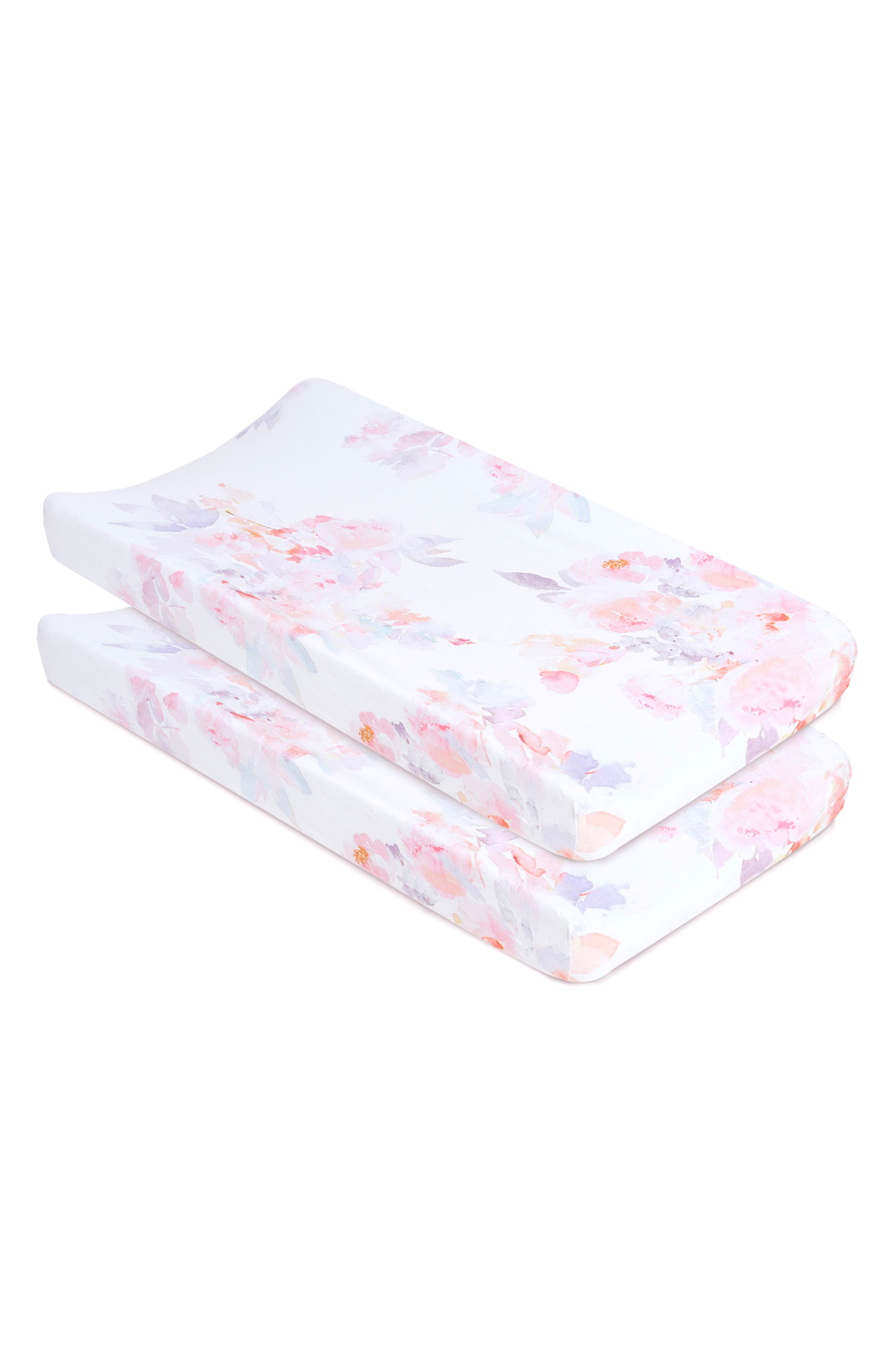 Alternate Image 1 Selected - Oilo Prim 2-Pack Jersey Changing Pad Covers