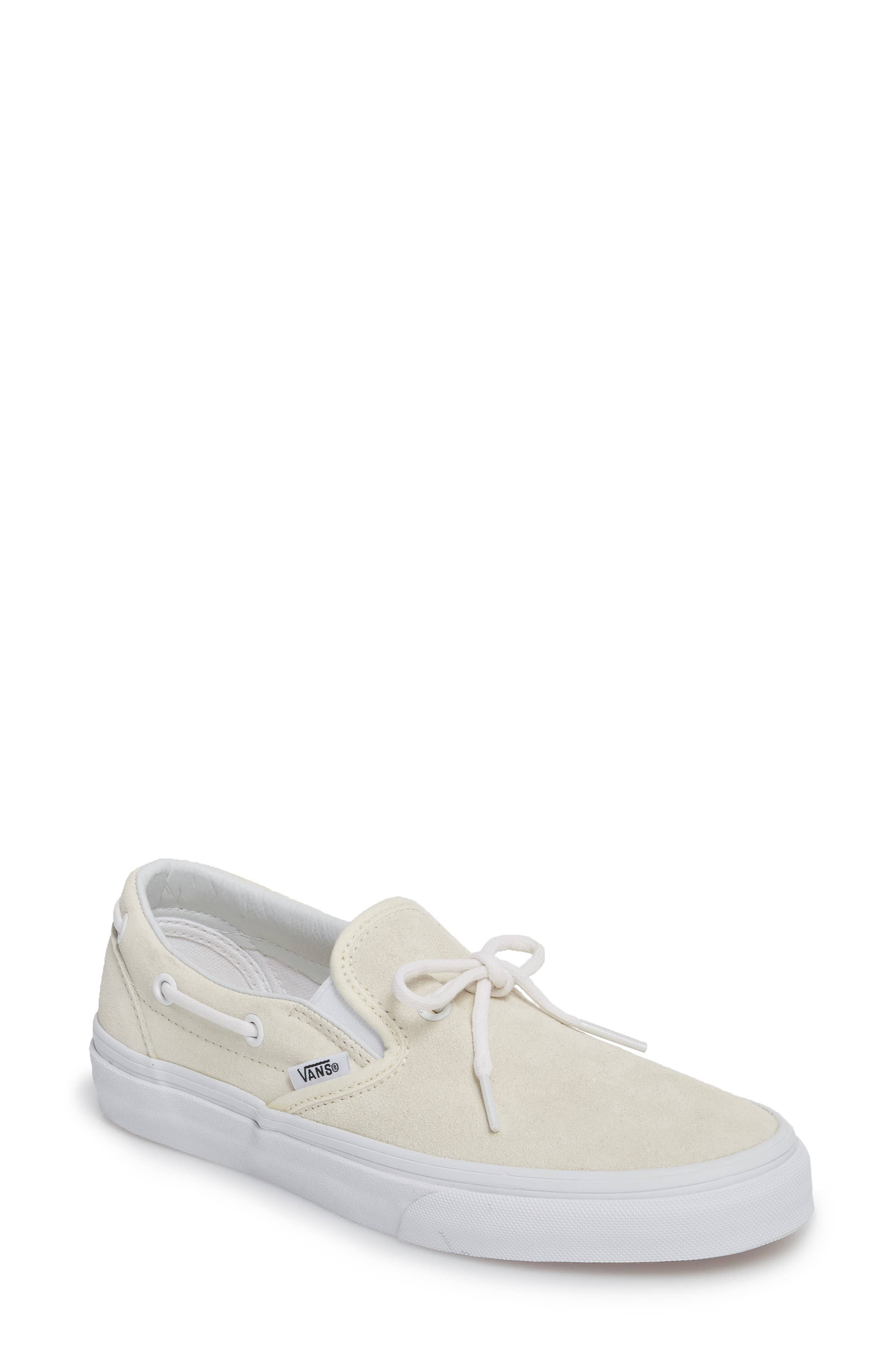 c6ff1406e7e5 Vans Ua Lacey 72 Slip-On Boat Sneaker In White Leather