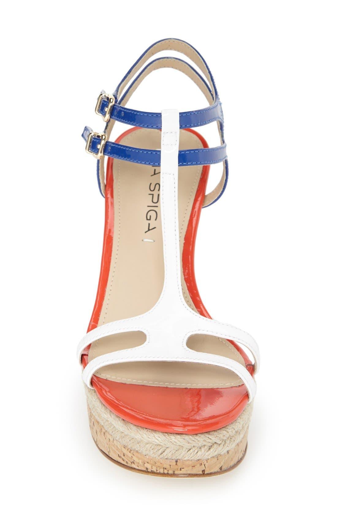 Alternate Image 4  - Via Spiga 'Meza' Leather Dual Ankle Strap Platform Wedge (Women) (Nordstrom Exclusive)
