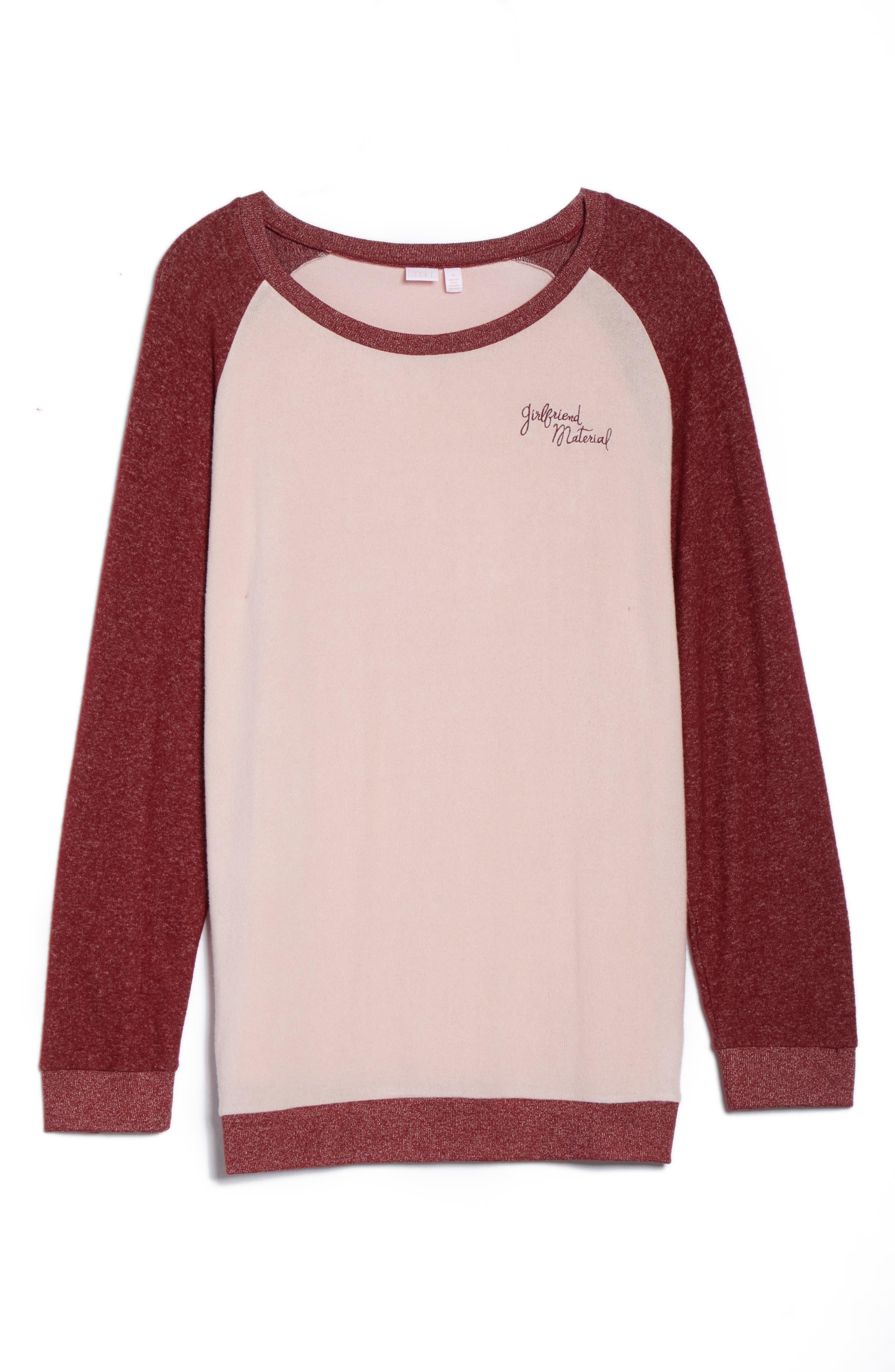 Alternate Image 4  - Make + Model Cozy Crew Lounge Sweater (Plus Size)