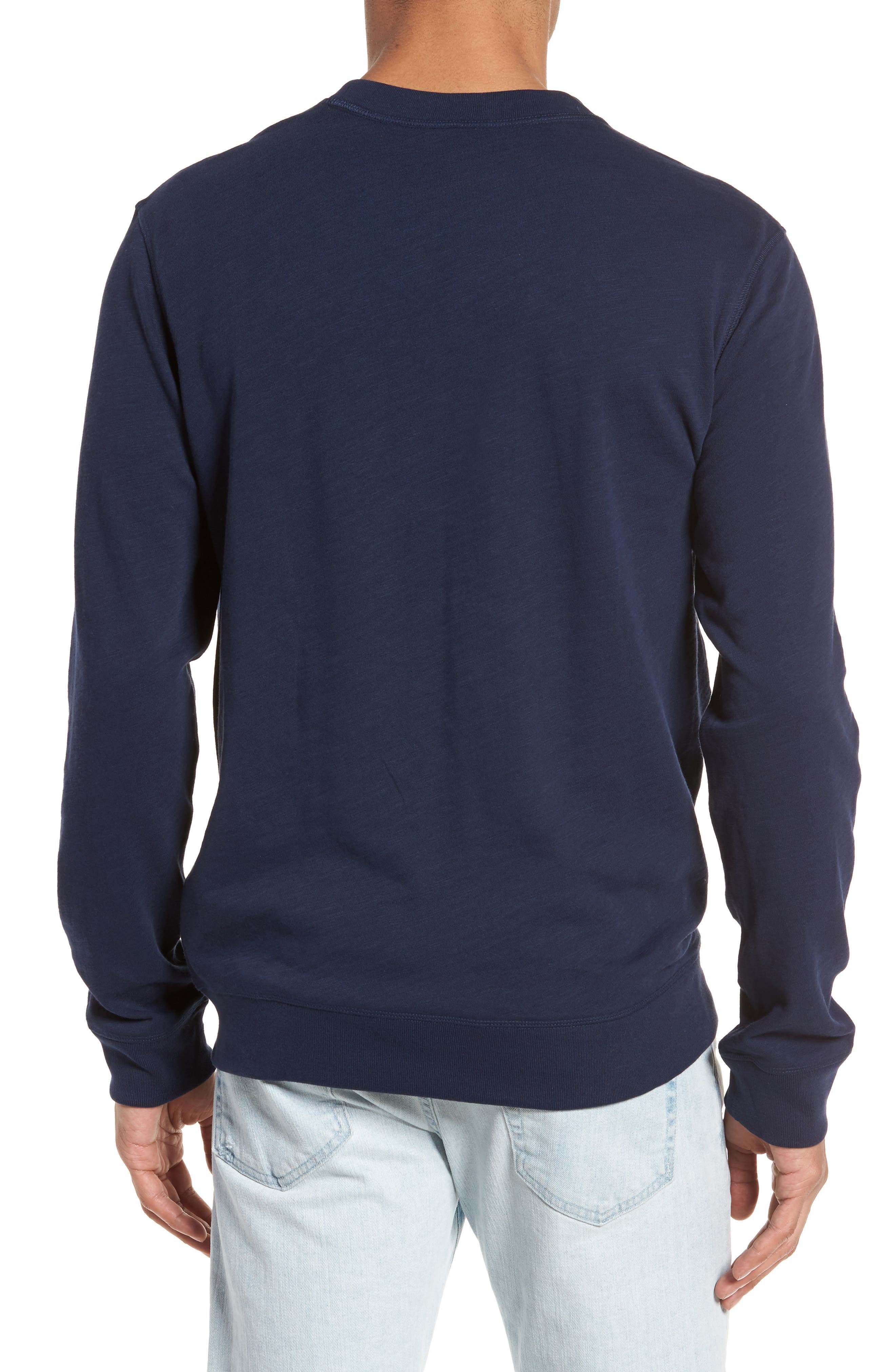Slim Fit French Terry Sweatshirt,                             Alternate thumbnail 2, color,                             Navy Blue