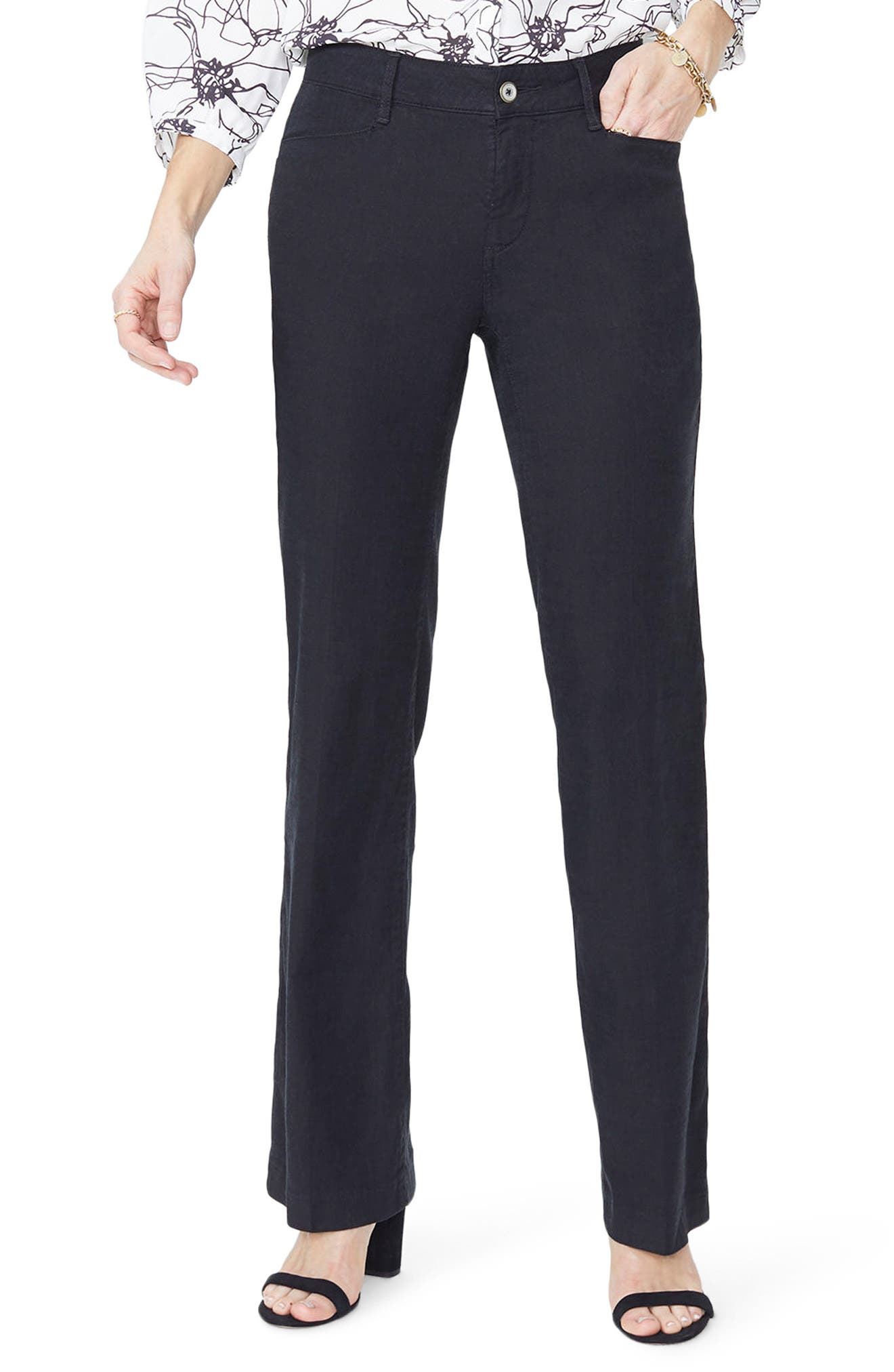 Alternate Image 1 Selected - NYDJ Linen Trousers