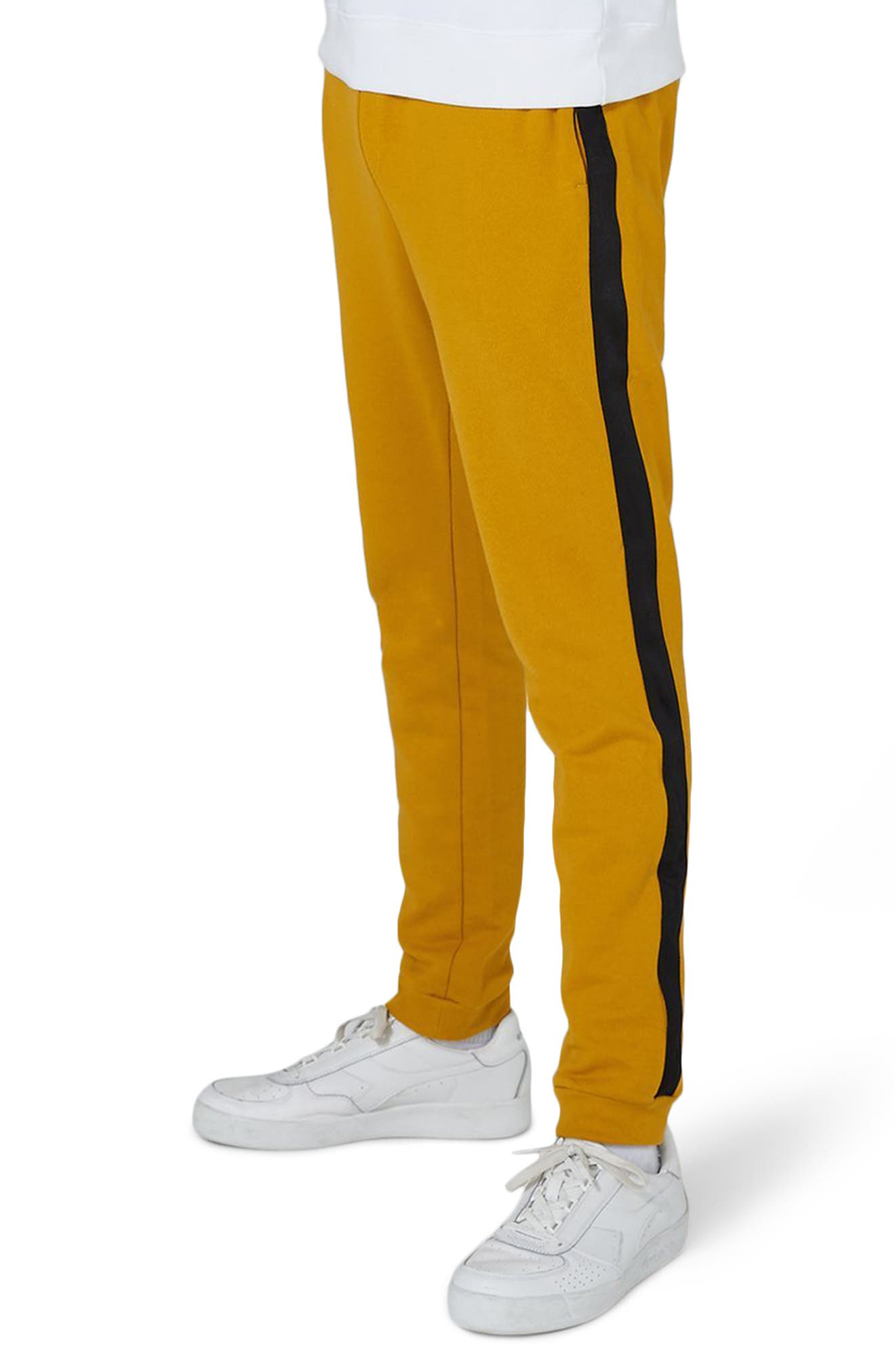 Side Tape Classic Fit Jogger Pants,                         Main,                         color, Yellow Multi
