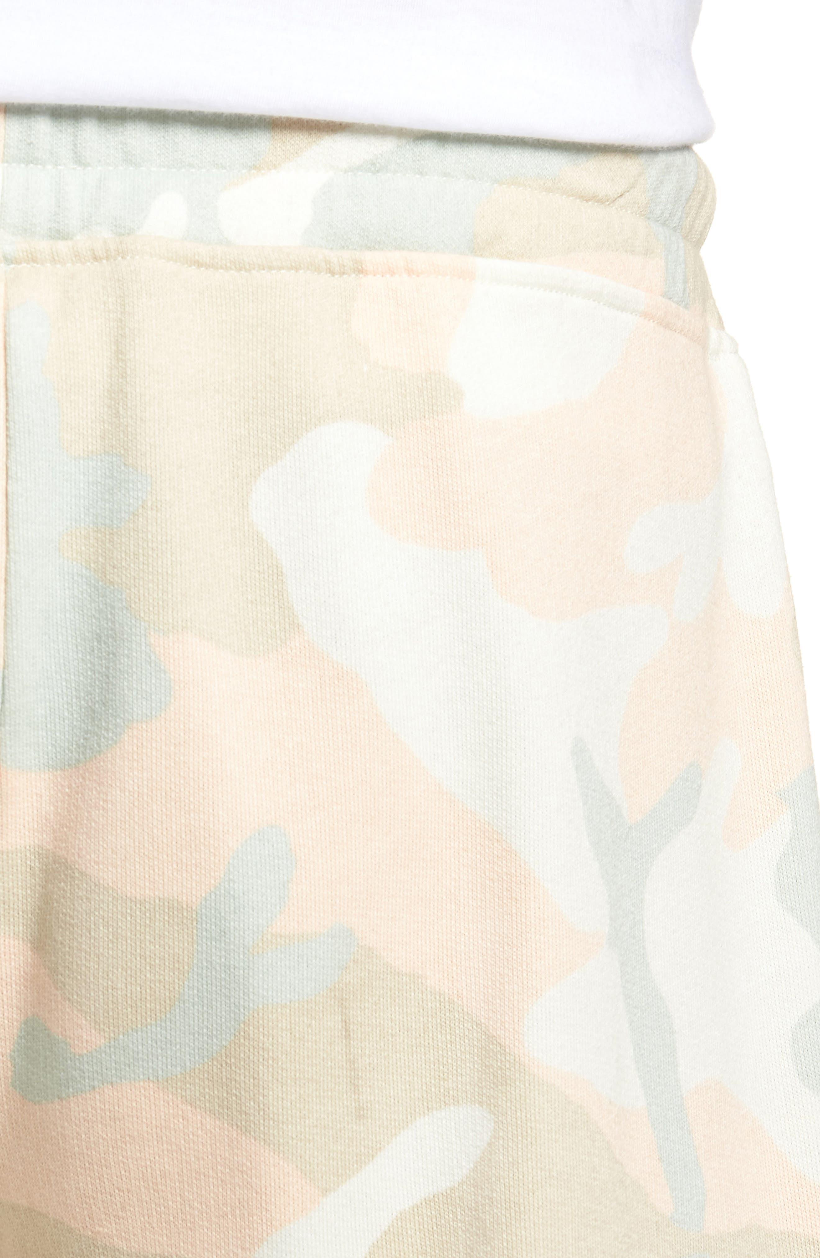 Alternate Image 4  - WeSC Marty Pastel Camo Fleece Shorts