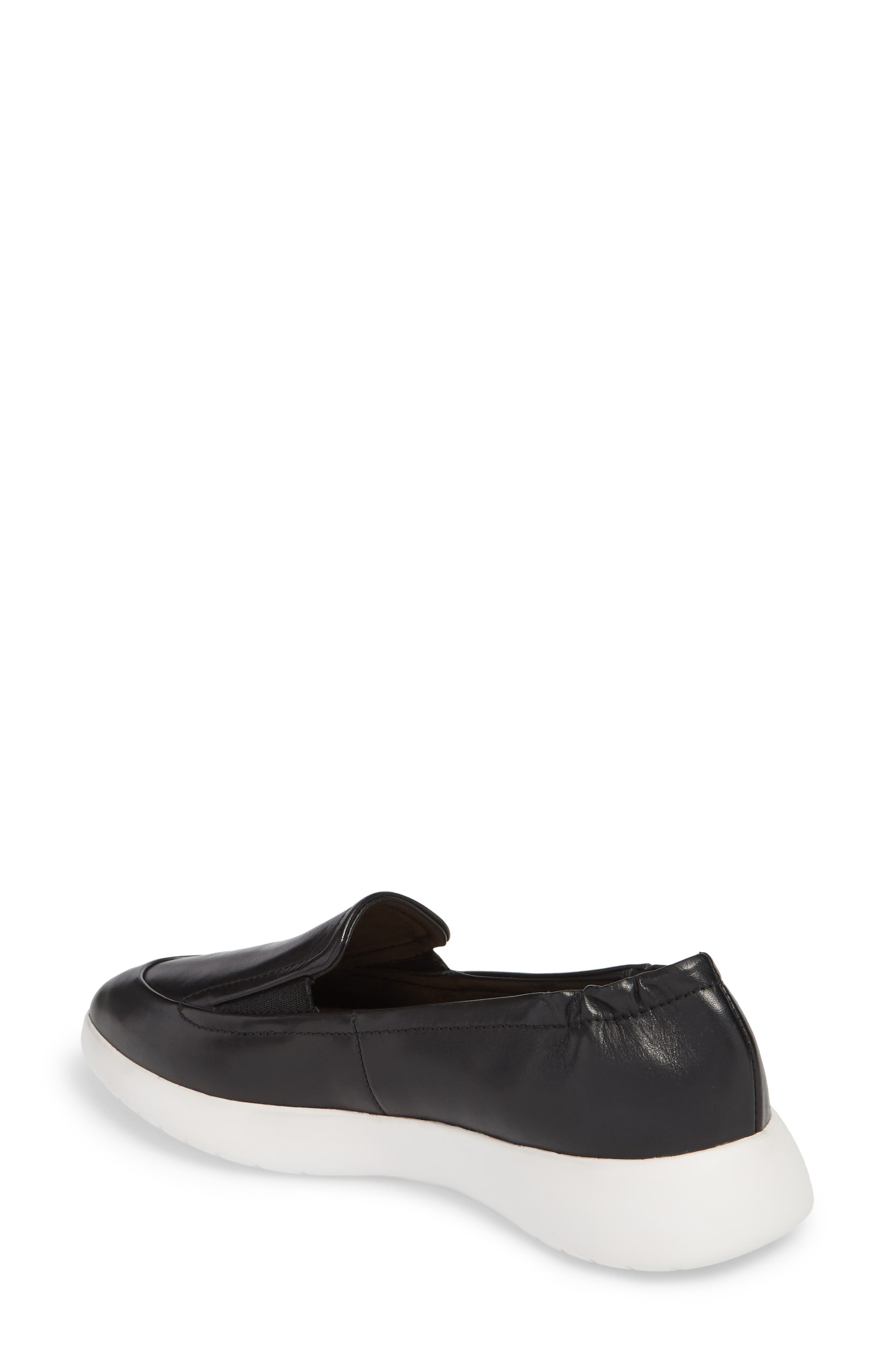 Dana Loafer Sneaker,                             Alternate thumbnail 2, color,                             Black Leather